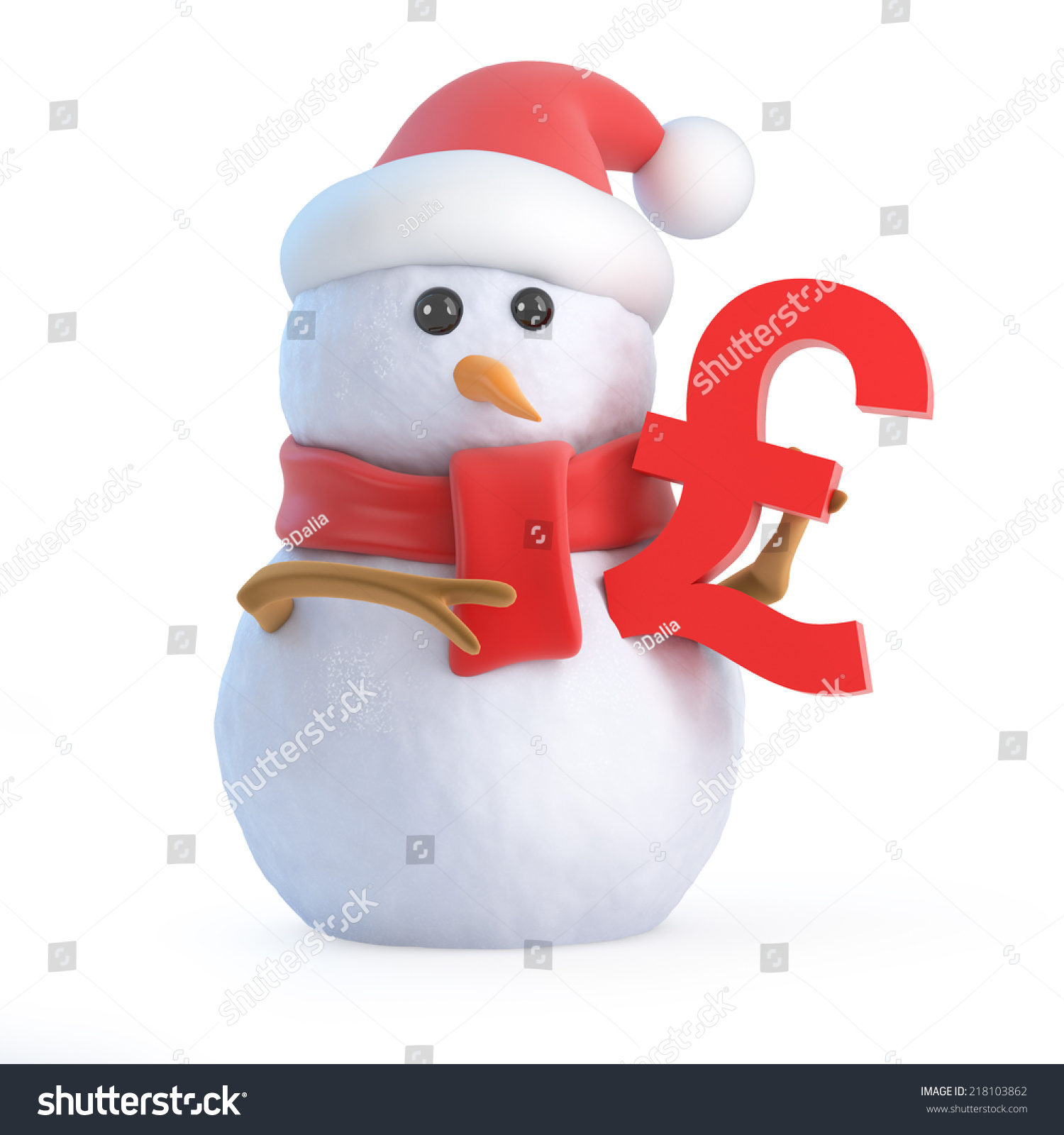 3d Render Of A Snowman Holding A Euro Currency Symbol Ez Canvas