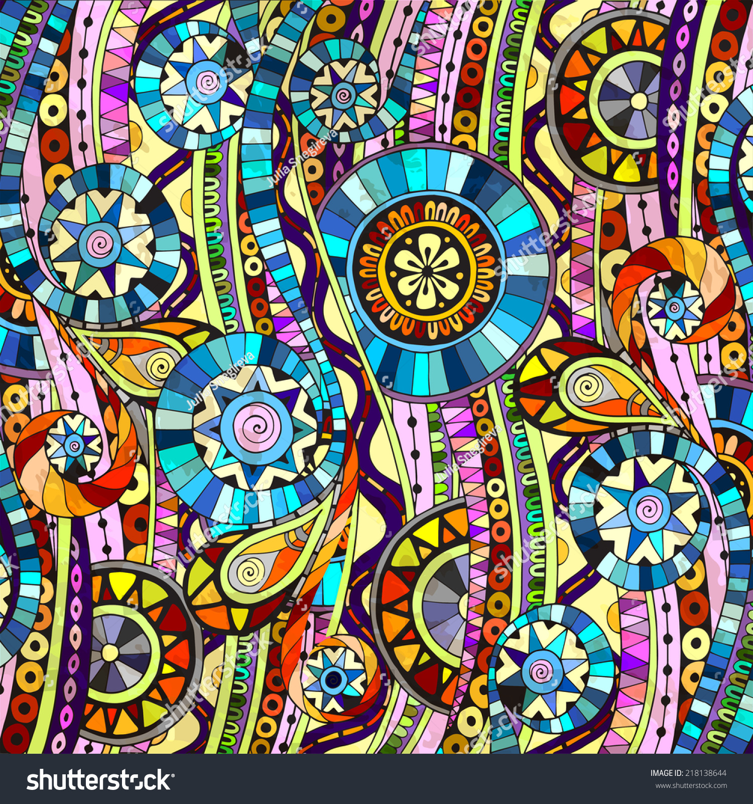 Colorful Abstract Mosaic Background Geometric Elements
