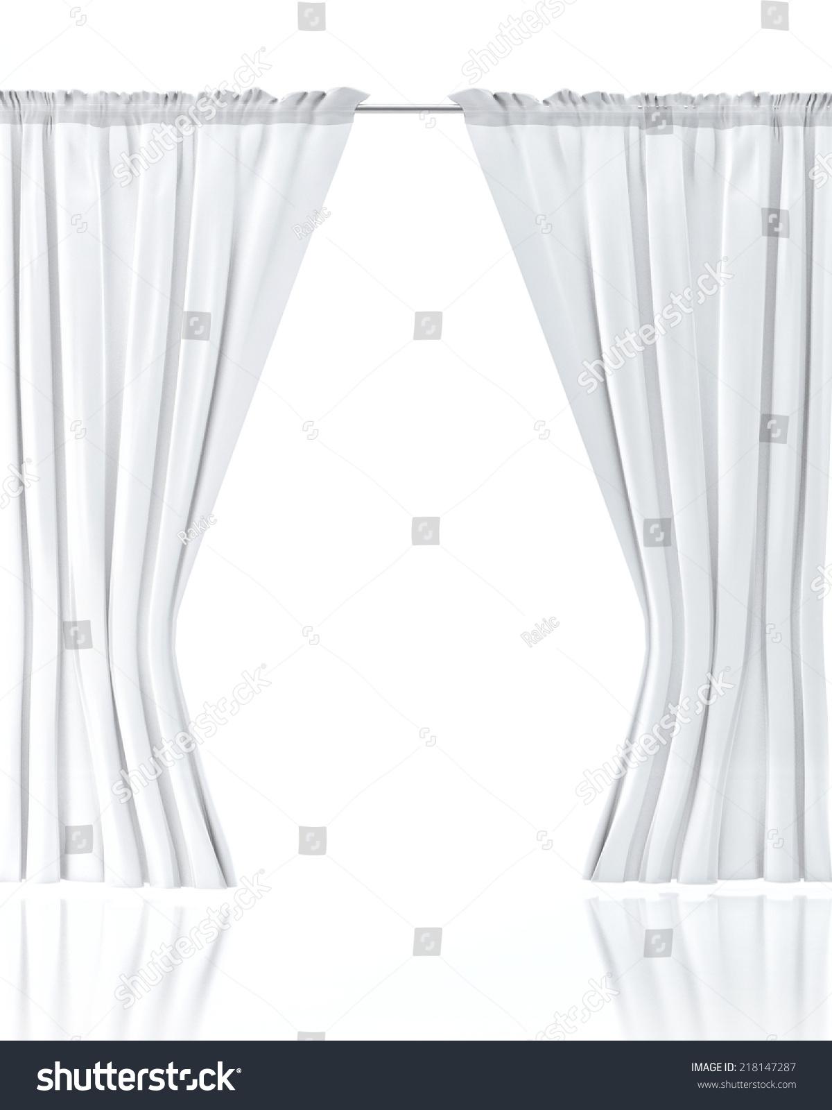 White curtain wallpaper - White Curtain Over White Background Stock Photo 218147287