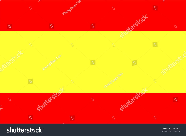 Flag Spain National Country Symbol Illustration Stock ...