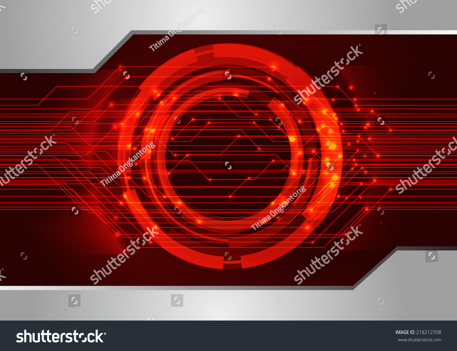 Dark Red Light Abstract Technology Background For Computer Graphic Printed Electrical Circuit Board Heart Symbol Vector Website And Internet Ez Canvas