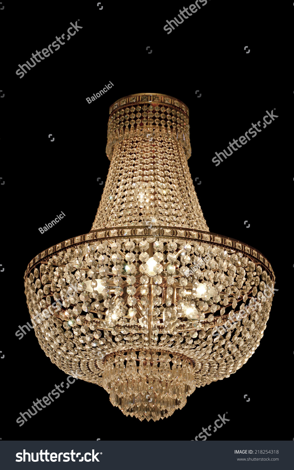 Big Old Expensive Crystal Chandelier Stock Photo 218254318 ...
