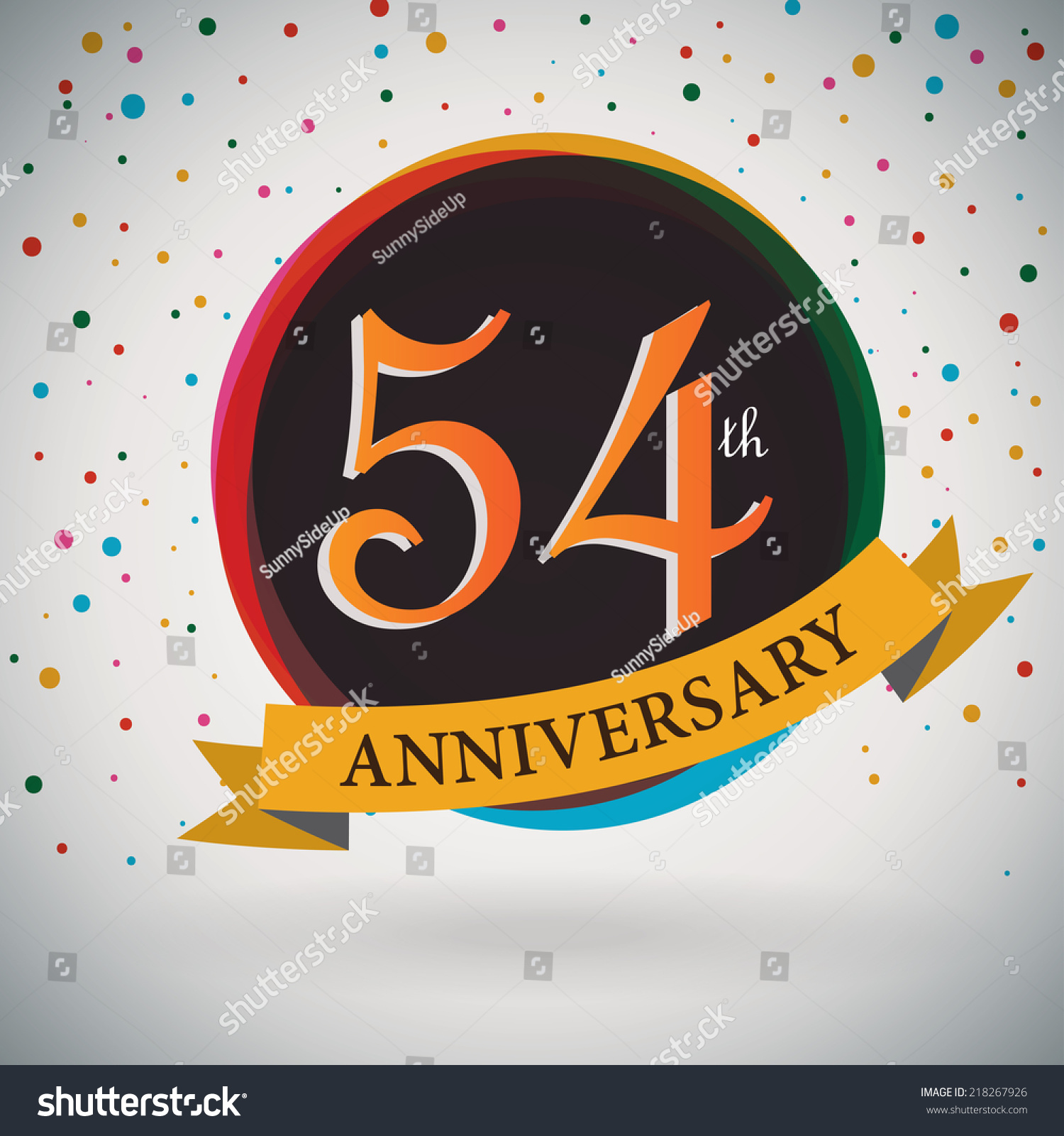 Royalty free 54th anniversary poster template 218267926 stock 54th anniversary poster template design in retro style vector background 218267926 biocorpaavc Gallery