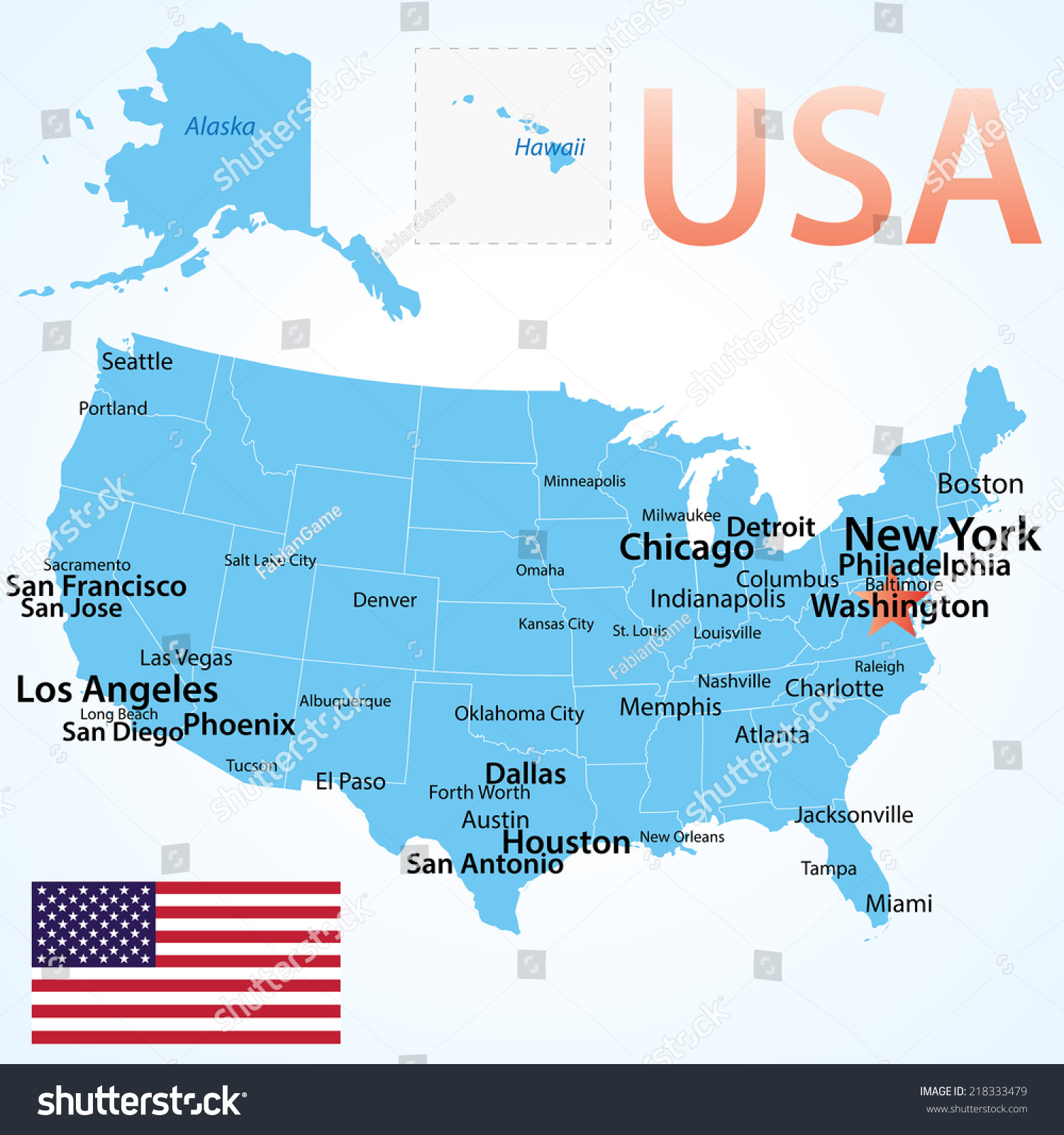 United States With Alaska And Hawaii Free Maps Free Blank Maps Us - Us map san francisco