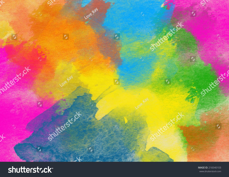 Artistic Rainbow Colors Splash Watercolor Background | EZ Canvas
