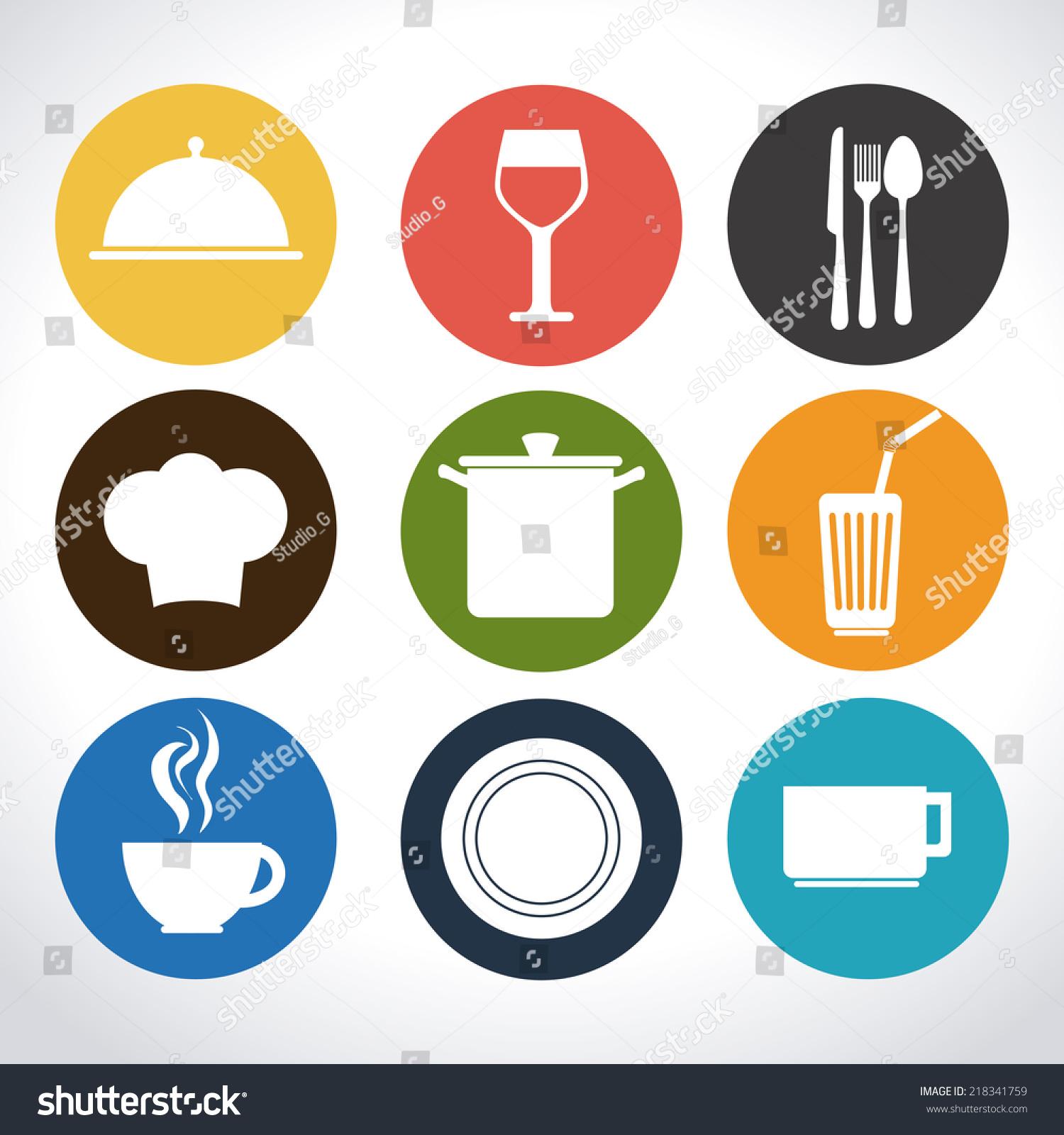 Kitchen design over white background vector illustration for Kitchen design vector