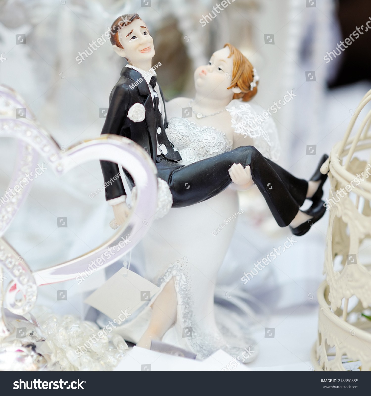 Funny Figurines Bride Groom On Top Stock Photo & Image (Royalty-Free ...