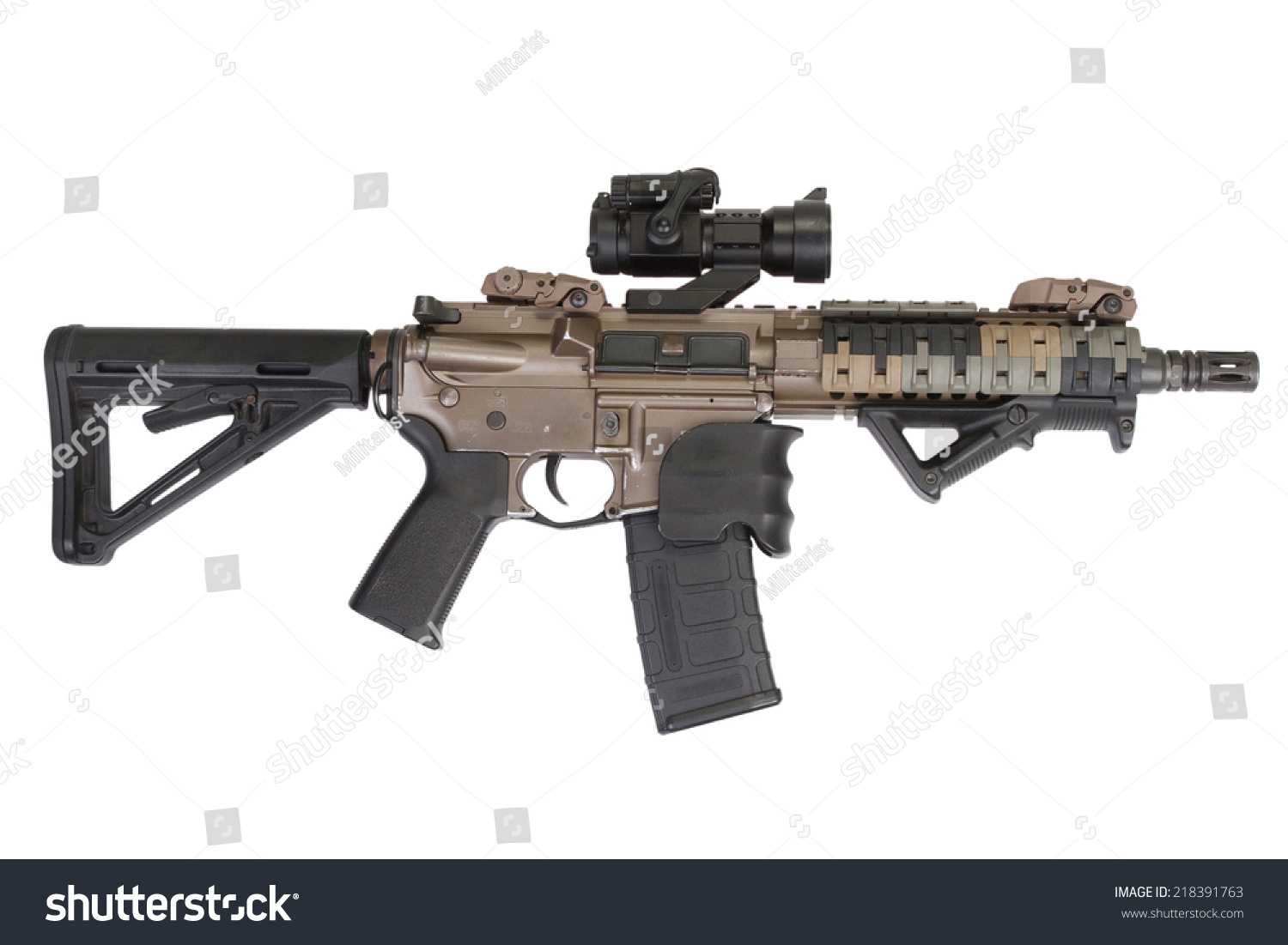 m4 special forces rifle isolated on stock photo 218391763 Assault Rifle Silhouette vector assault rifle for sale