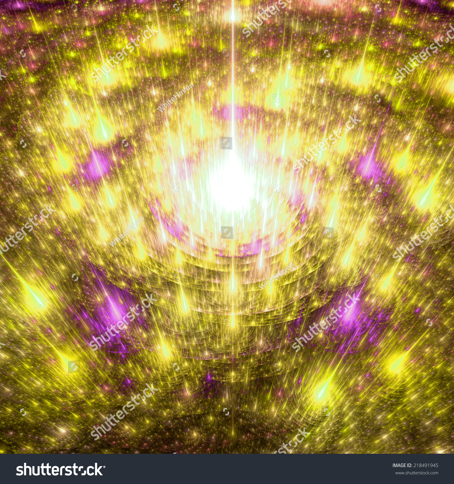 Fractal Black Flower Free Stock Photo: Shining Bright Yellow, Orange And Pink Abstract Spiraling