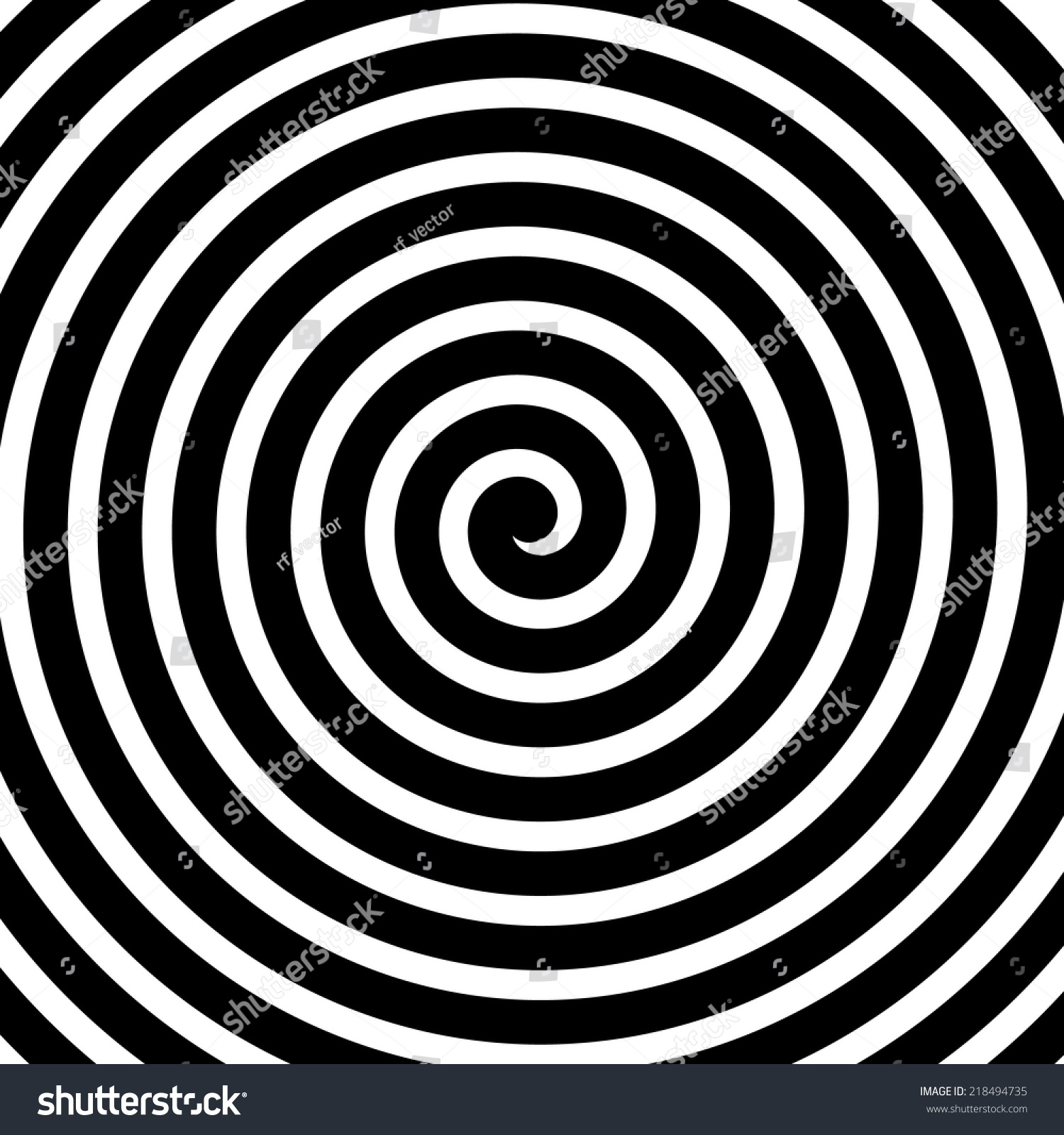 Volute Spiral Concentric Lines Circular Rotating Stock Vector ...