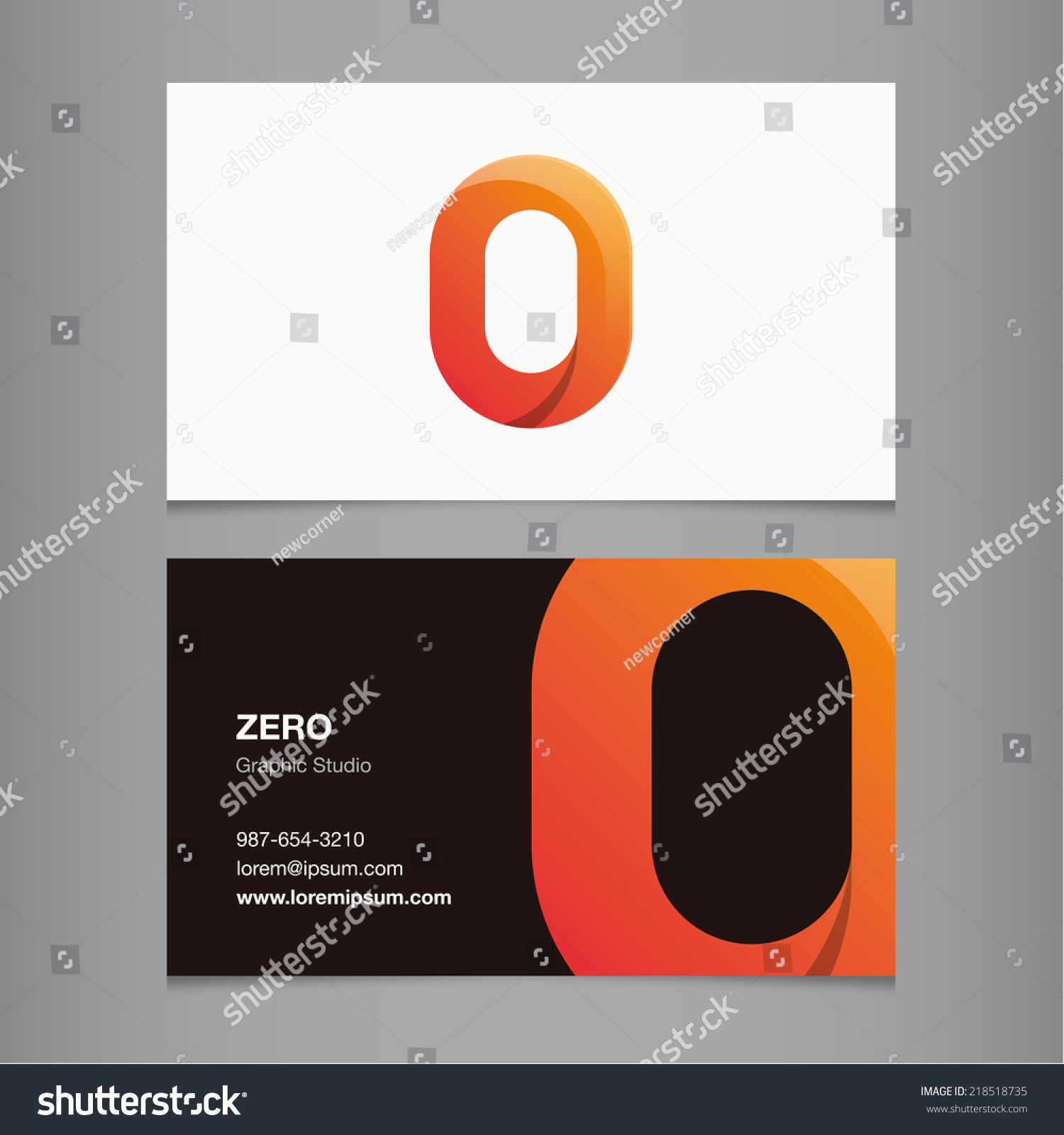 business card number 0 stock vector shutterstock