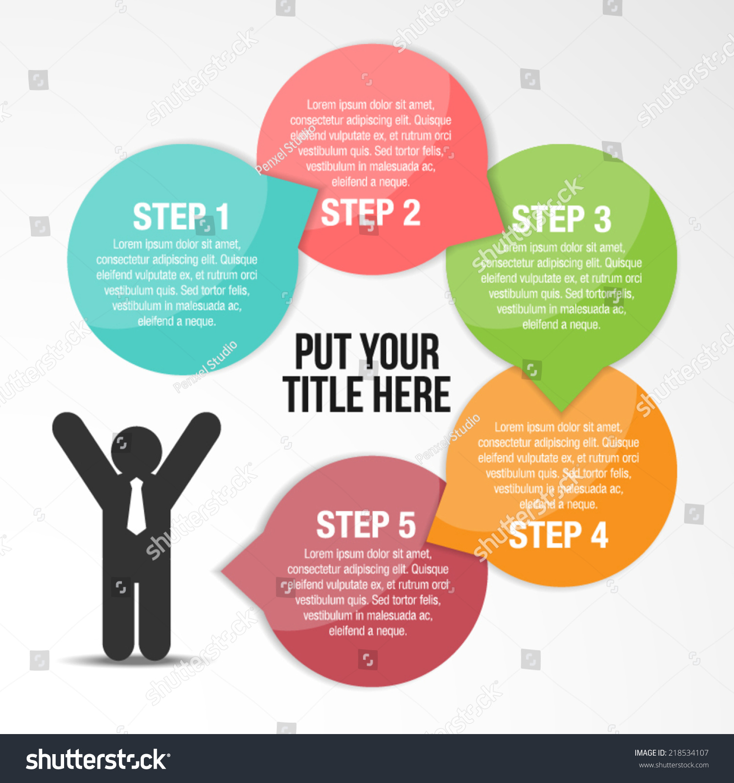 step by step success infographic template stock vector royalty free