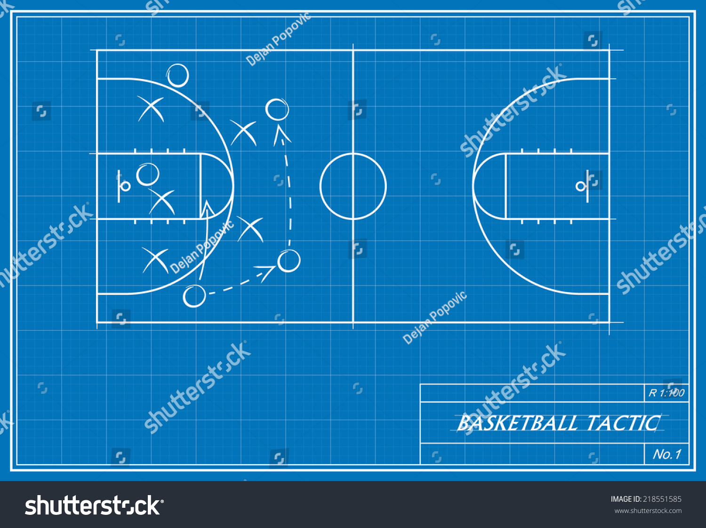Image basketball tactic on blueprint transparency stock vector image of basketball tactic on blueprint transparency used malvernweather Choice Image