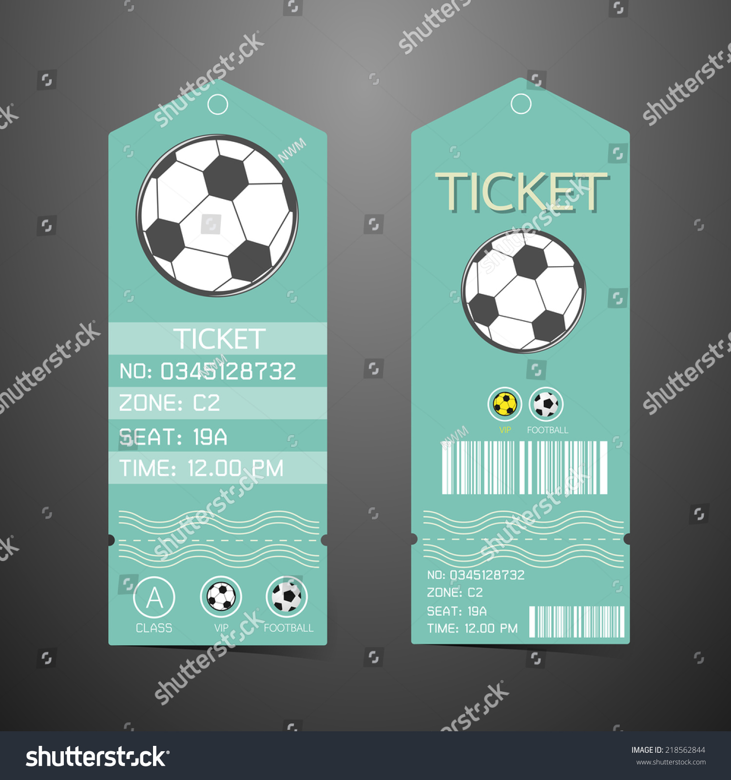 Ticket Design Template Concept Football Vector 218562844 – Ticket Design Template