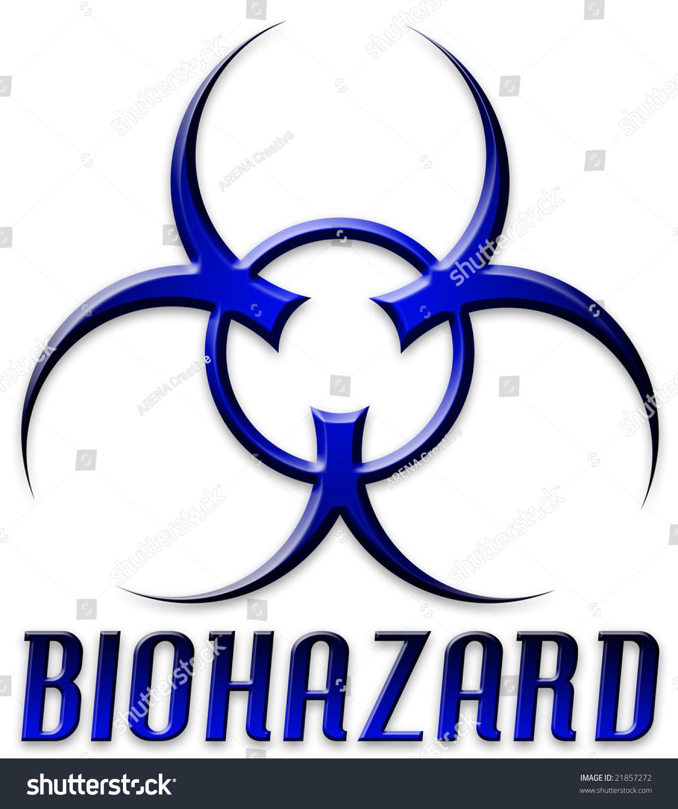 Danger Biohazard Symbol Type Blue Black Stock Illustration 21857272