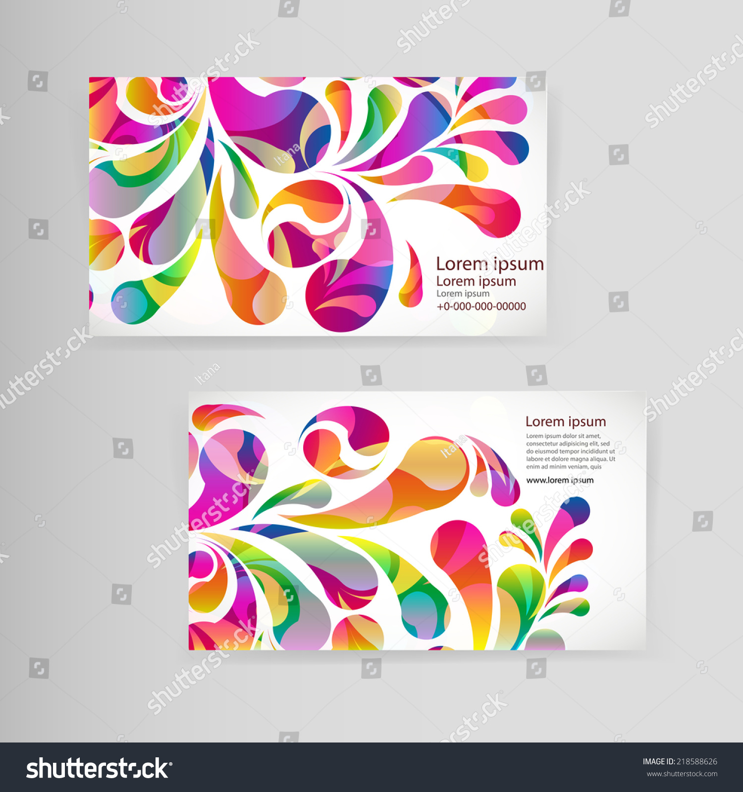 Sample business card bright teardropshaped arches stock vector sample business card bright teardropshaped arches stock vector 218588626 shutterstock reheart Image collections