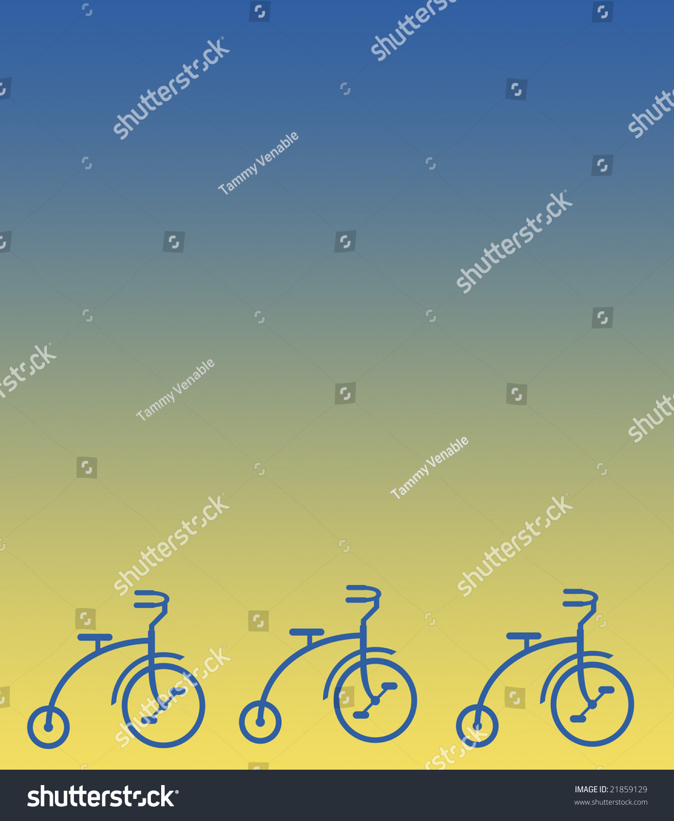 tricycles border on blue tan gradient stock illustration 21859129 shutterstock