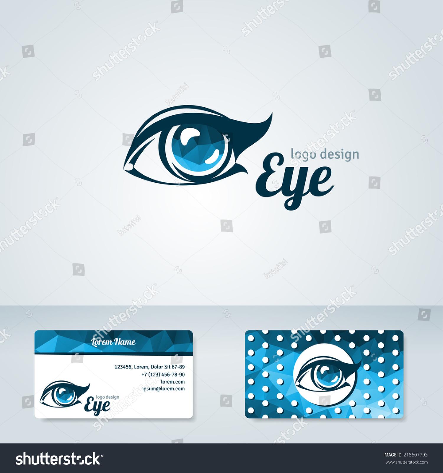 Woman Eye Vector Logo Design Template Stock Vector
