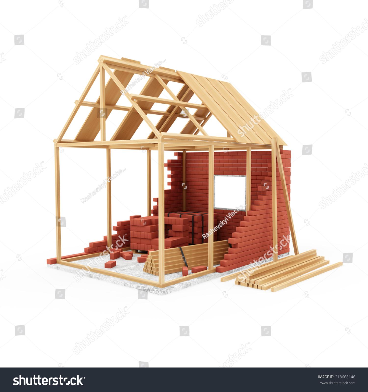 Home Construction Concept House Under Construction Stock ...