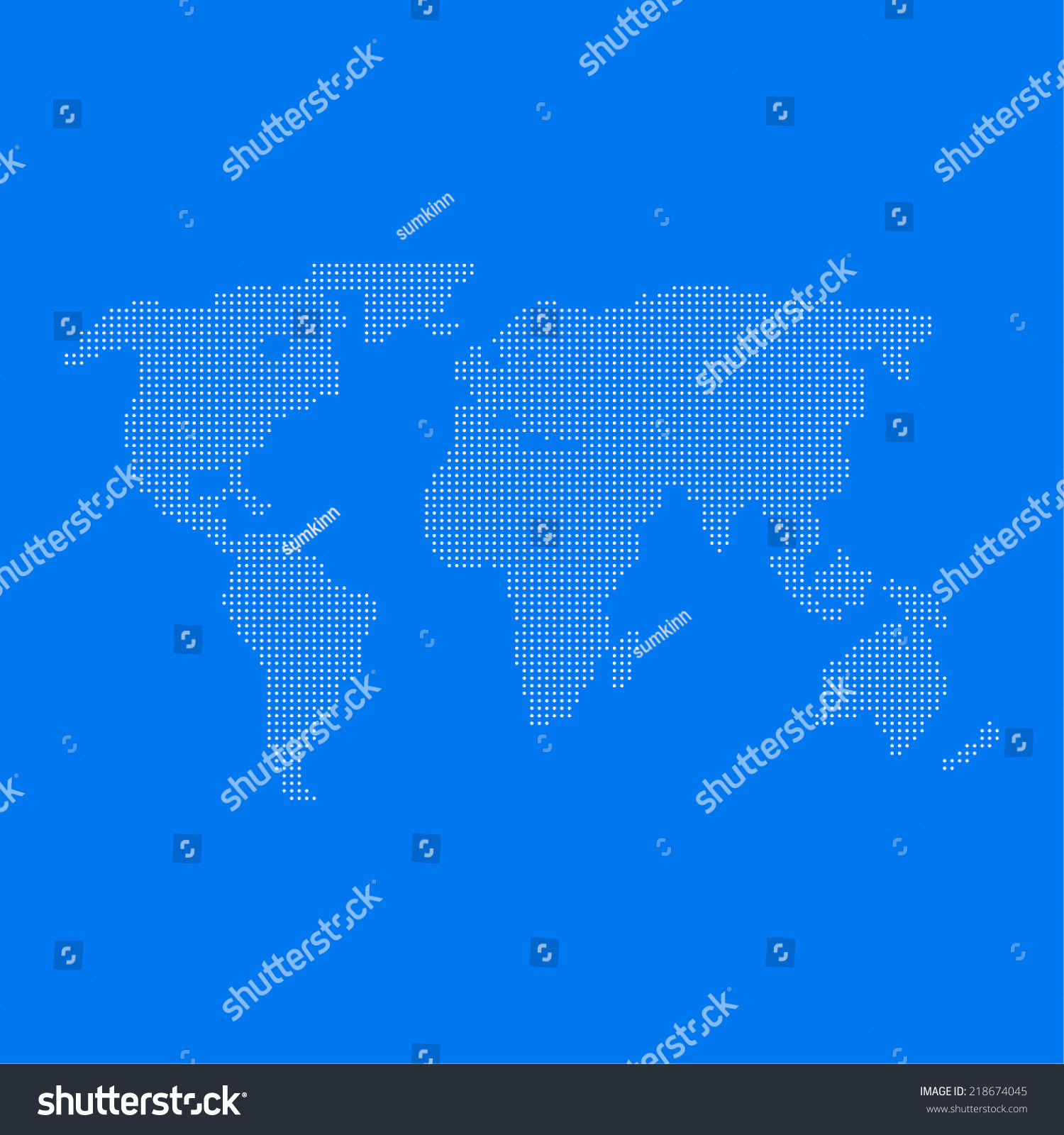 World map dots web mobile app stock vector 218674045 shutterstock world map of dots for web and mobile app gumiabroncs Gallery
