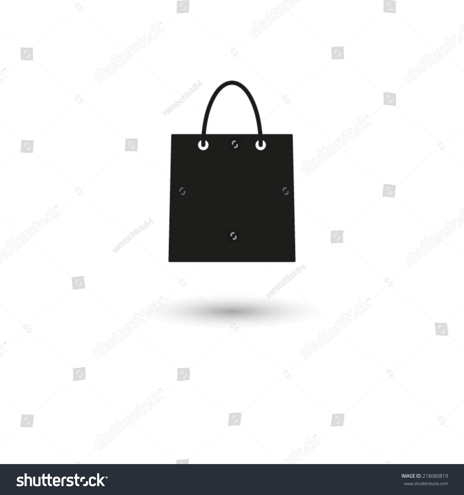 Shopping Bag Vector Icon Stock Vector 218680819 - Shutterstock
