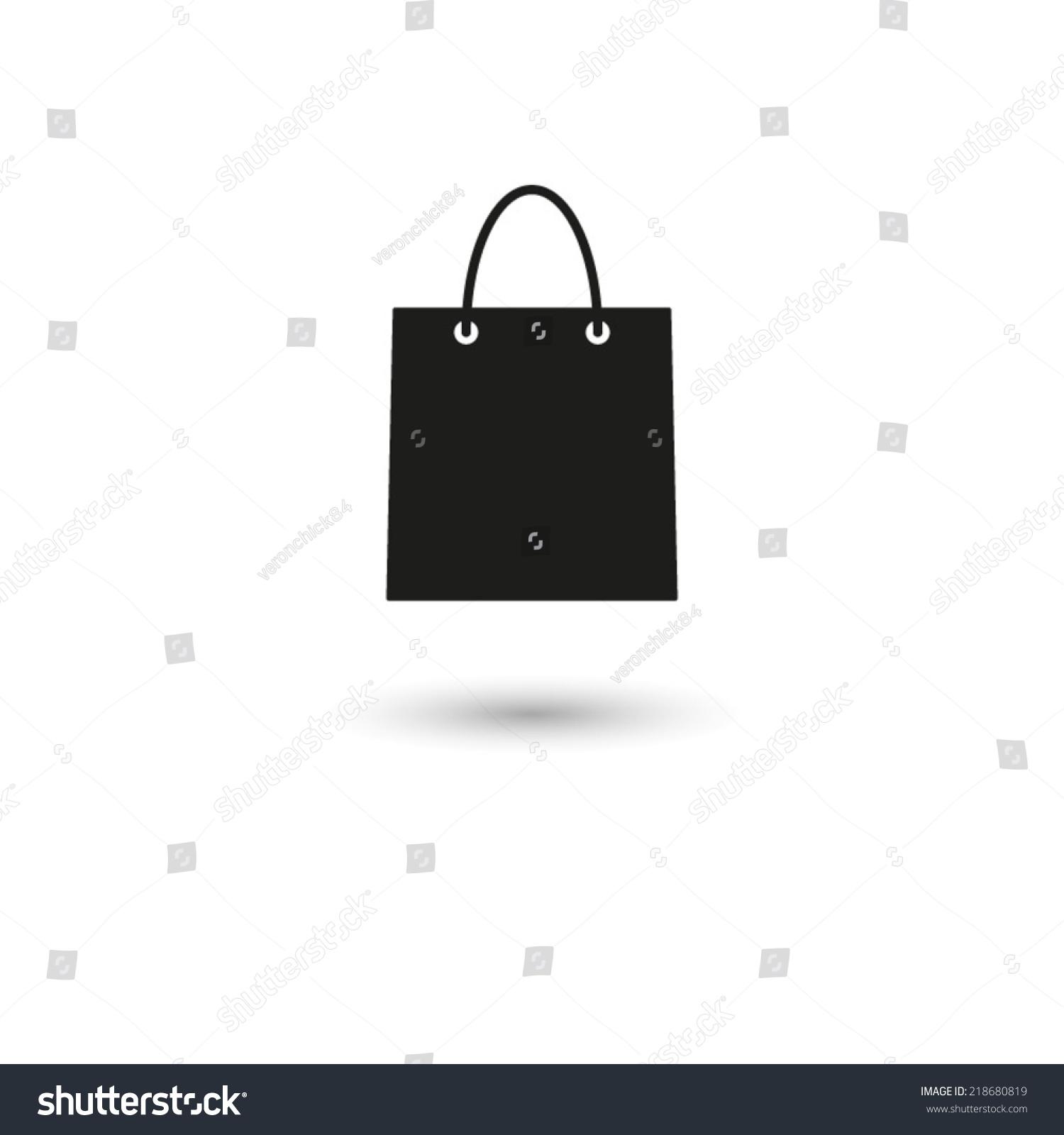 Shopping Bag Vector Icon Stock Vector 218680819 - Shutterstock