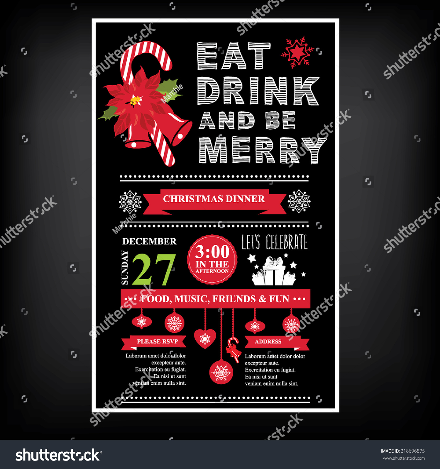 vector christmas party invitation toys holiday stock vector vector christmas party invitation toys holiday background and design banner vector template
