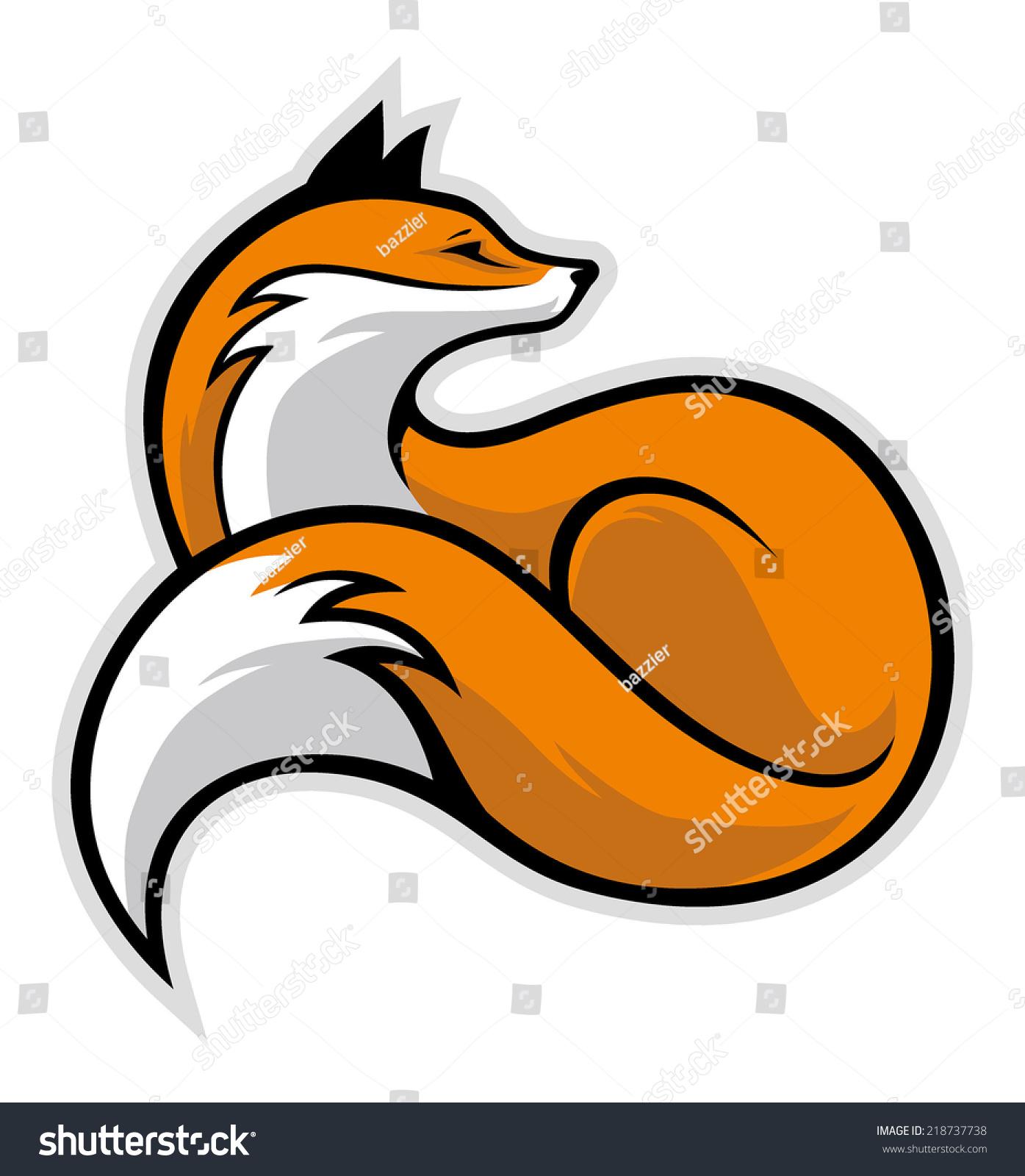 Simple Fox Stock Vector 218737738 Shutterstock