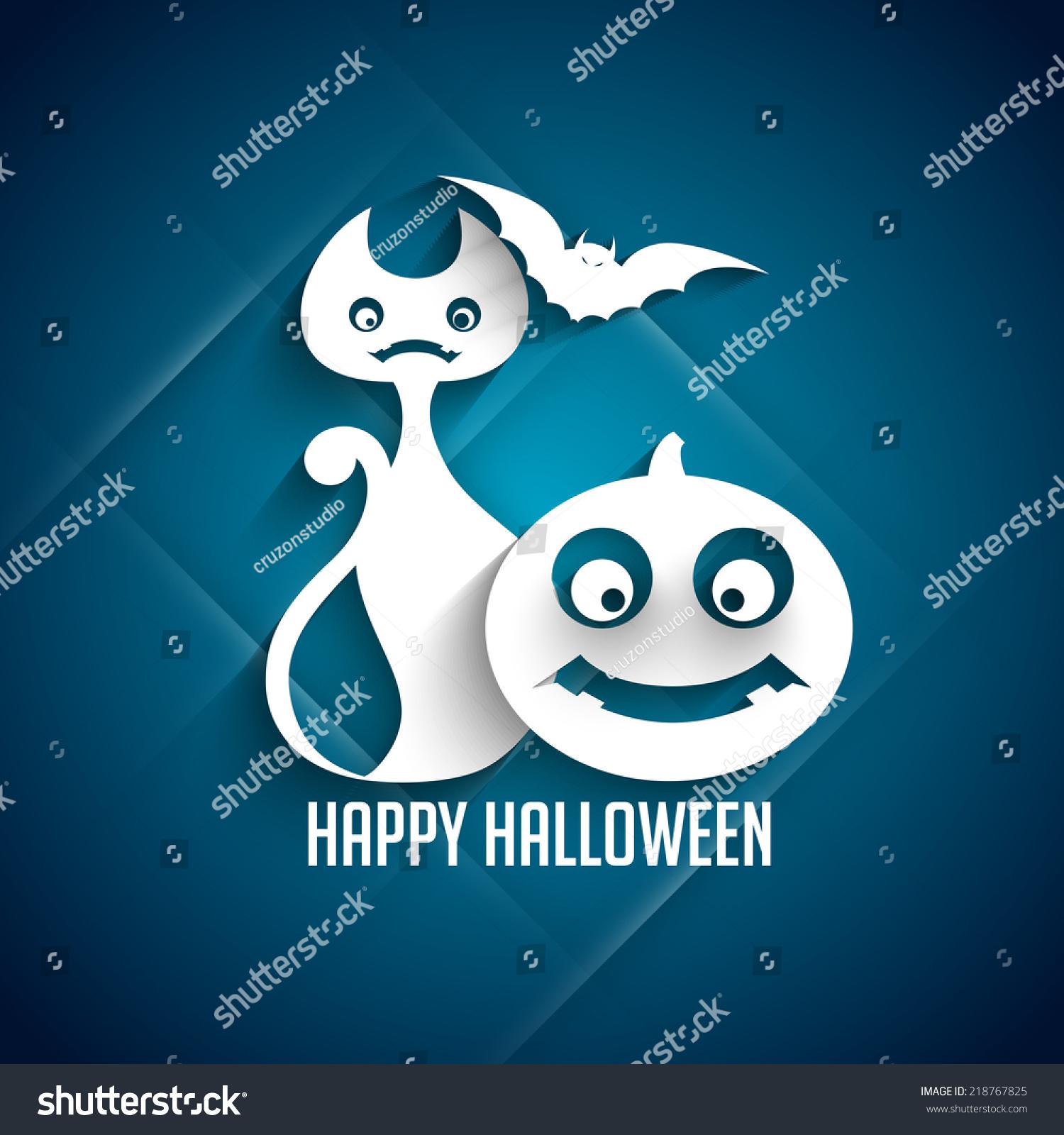 Vector Background Greeting Halloween Festival Stock Vector Royalty