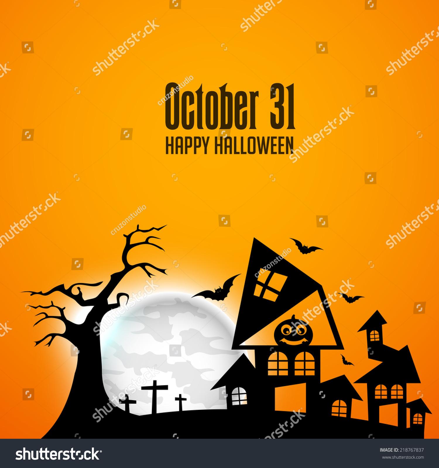 Vector Illustration Halloween Background Ez Canvas