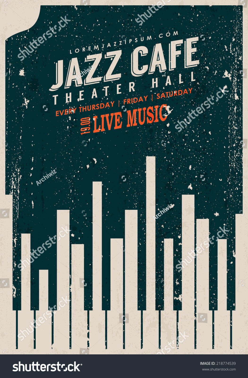 Vector Vintage Jazz Music Poster Template Stock Vector ...