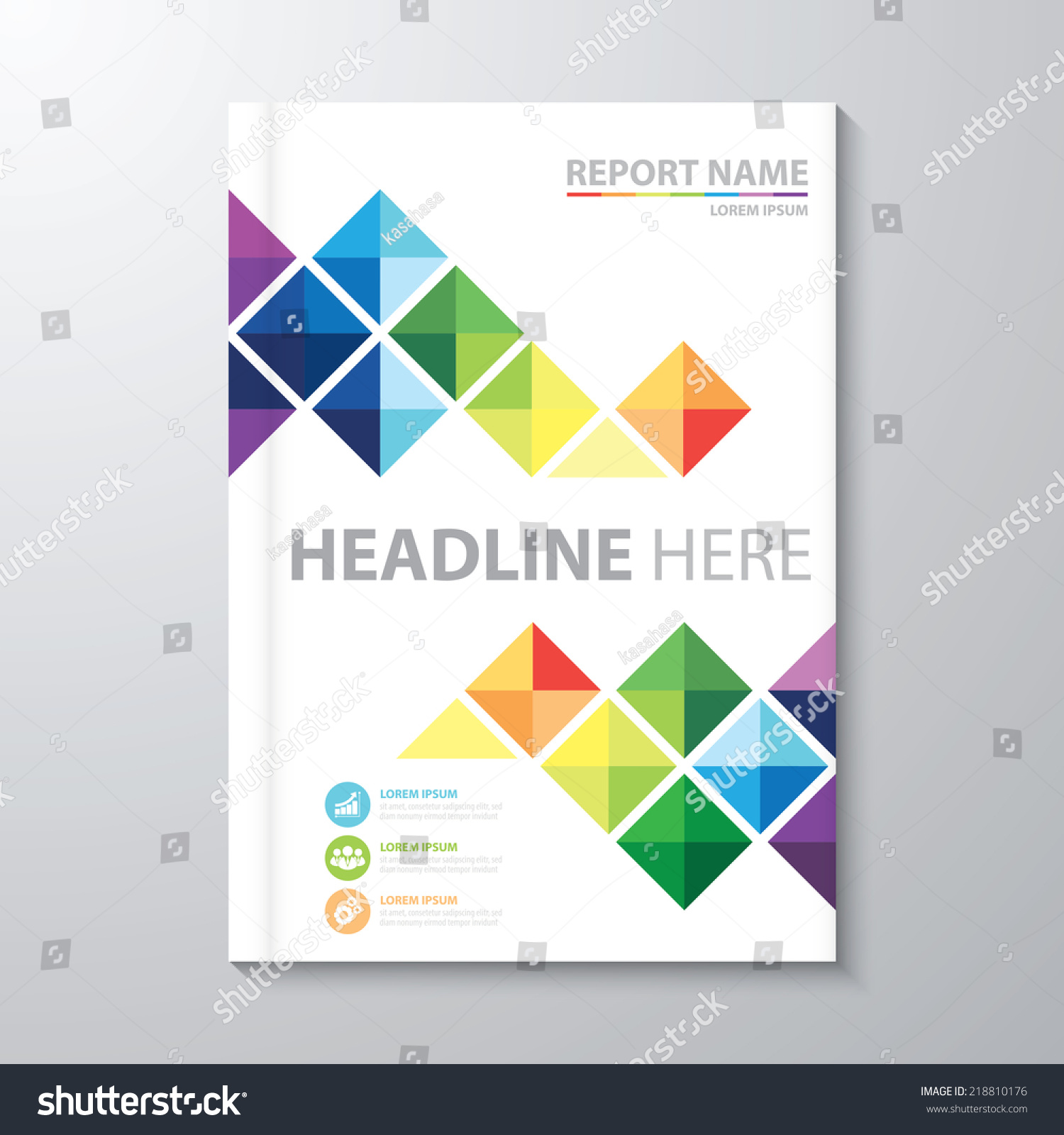 abstract colorful triangle background cover design stock vector abstract colorful triangle background cover design template layout in a4 size for annual report