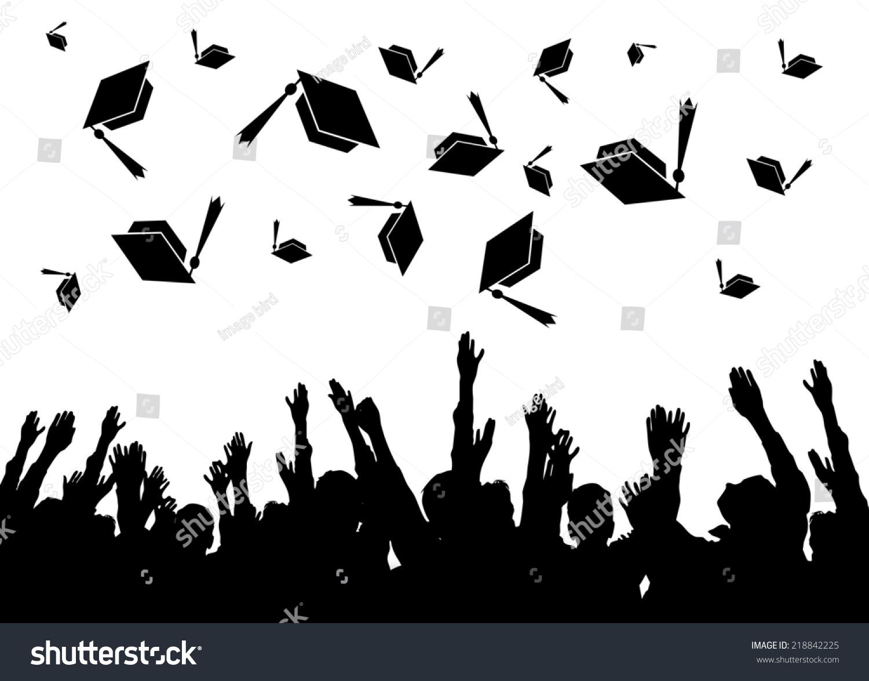 Royalty-free Graduation- graduates tossing the… #218842225 ...