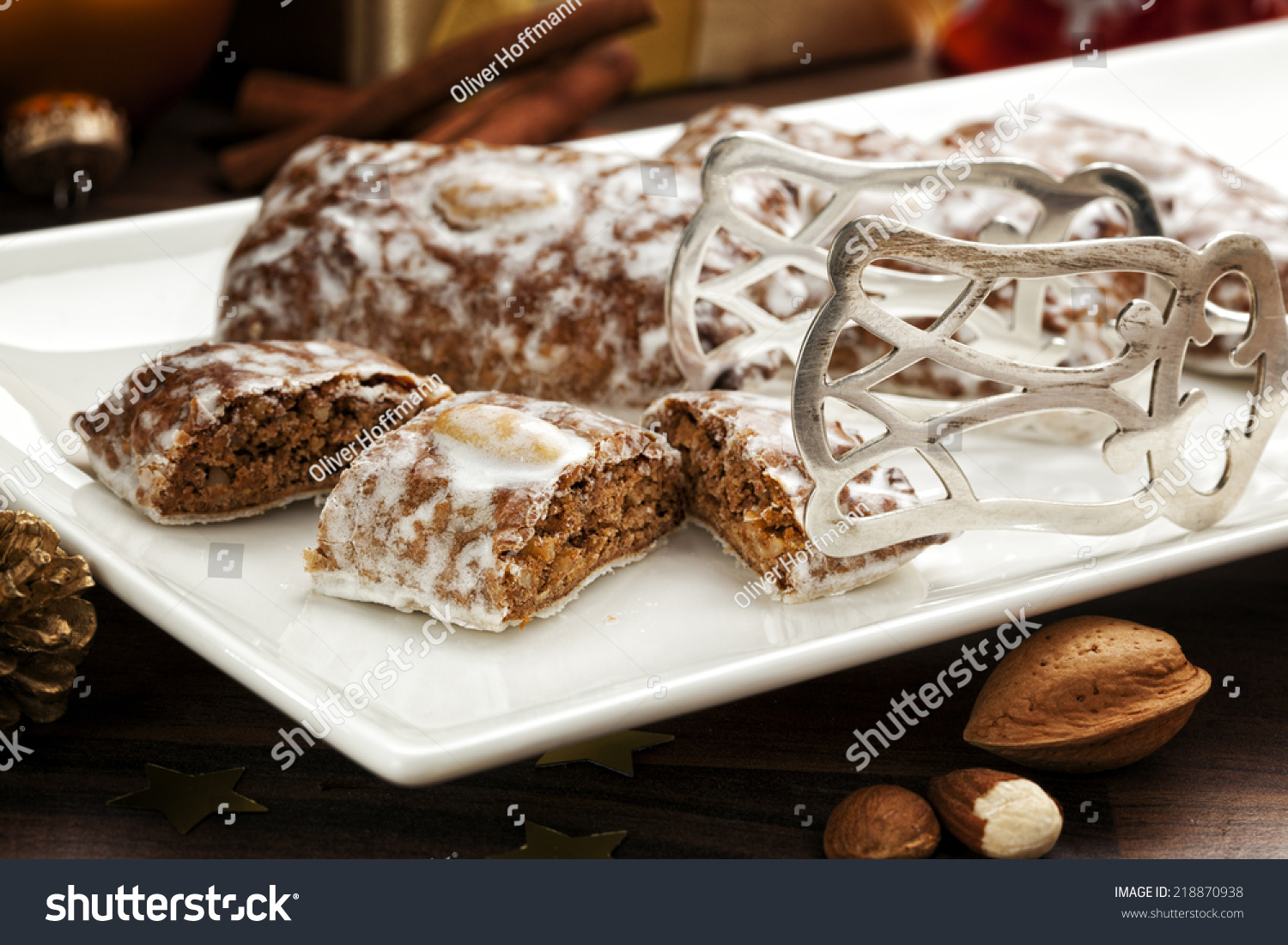 Traditional German Gingerbread Cookies On Plate Stock Photo Edit