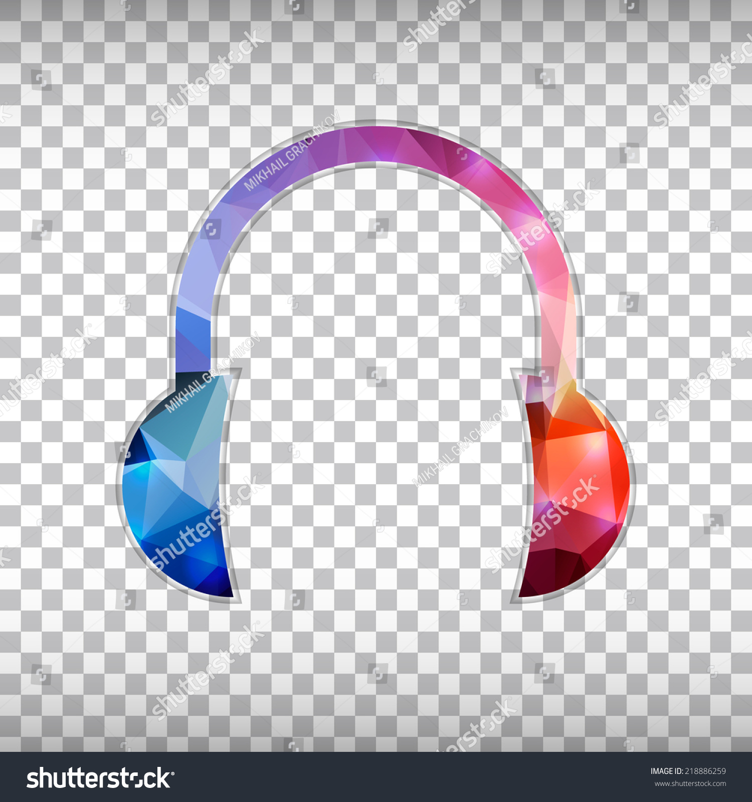 abstract creative concept vector icon headphone stock vector