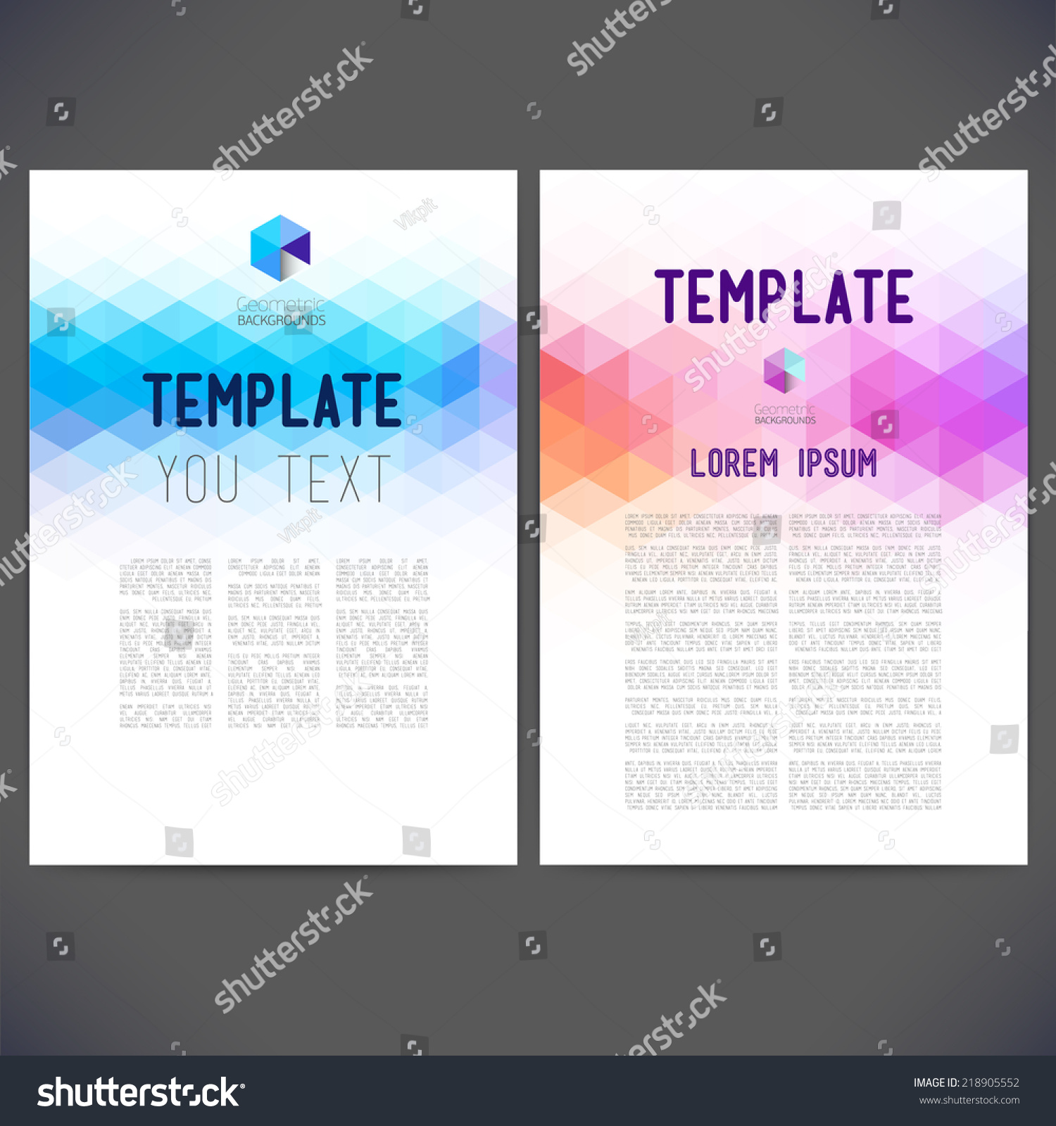 Web Flyer Template Stock Vector Abstract Vector Template Design Brochure Web  Sites Page Leaflet With Colorful