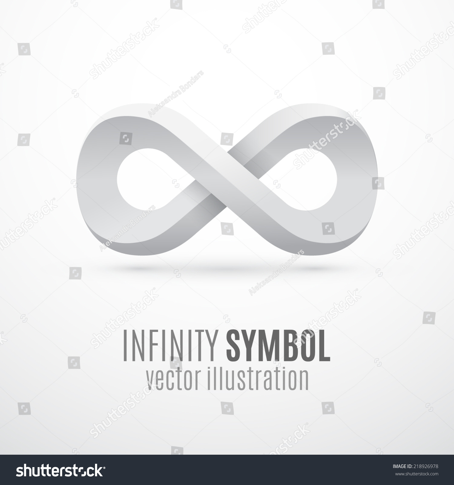 White 3 D Infinity Symbol Conceptual Icon Stock Vector Royalty Free