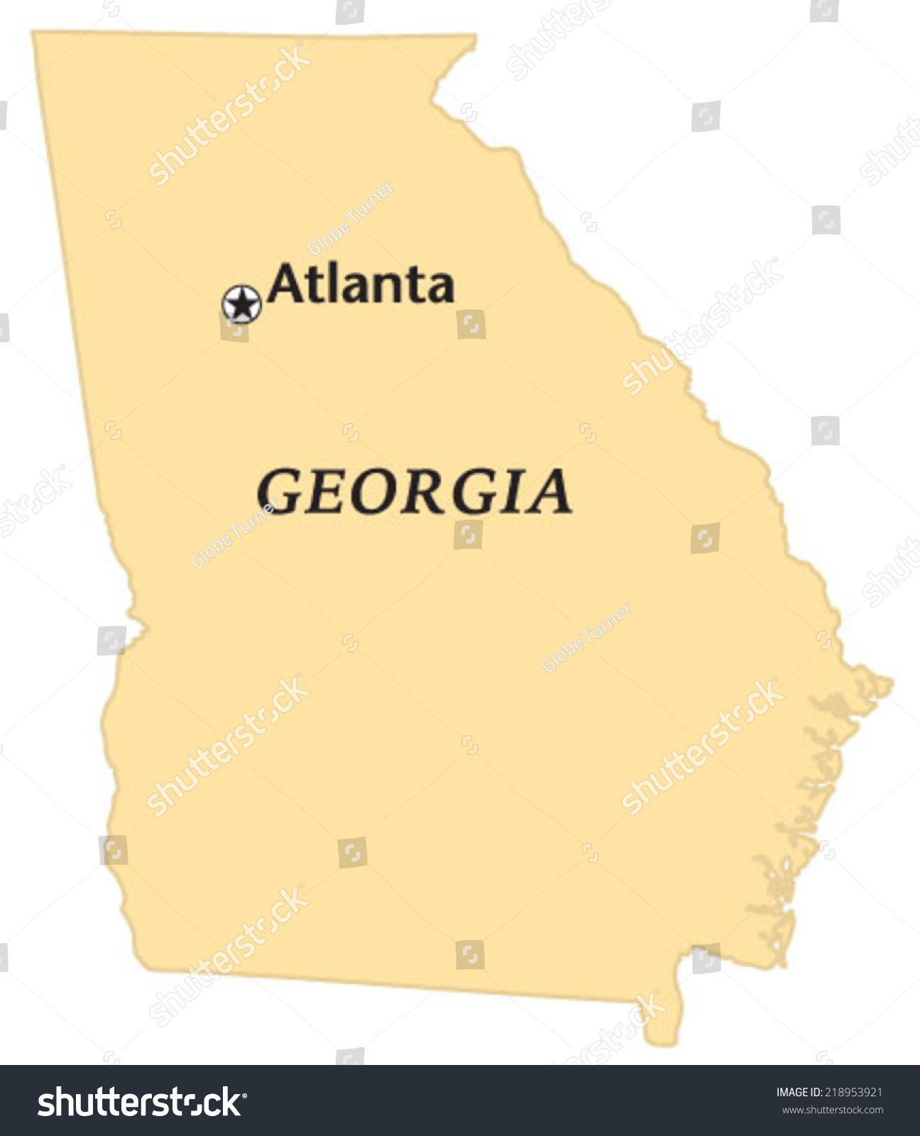 Georgia Map Map Of Georgia USA Detailed GA Map Home Security In - Map of georgia usa