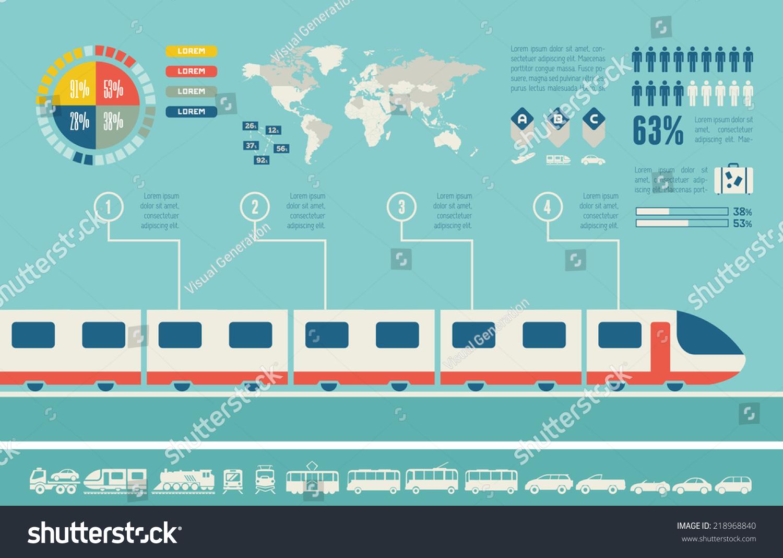 Transportation infographic template stock vector 218968840 for Europeanhome com