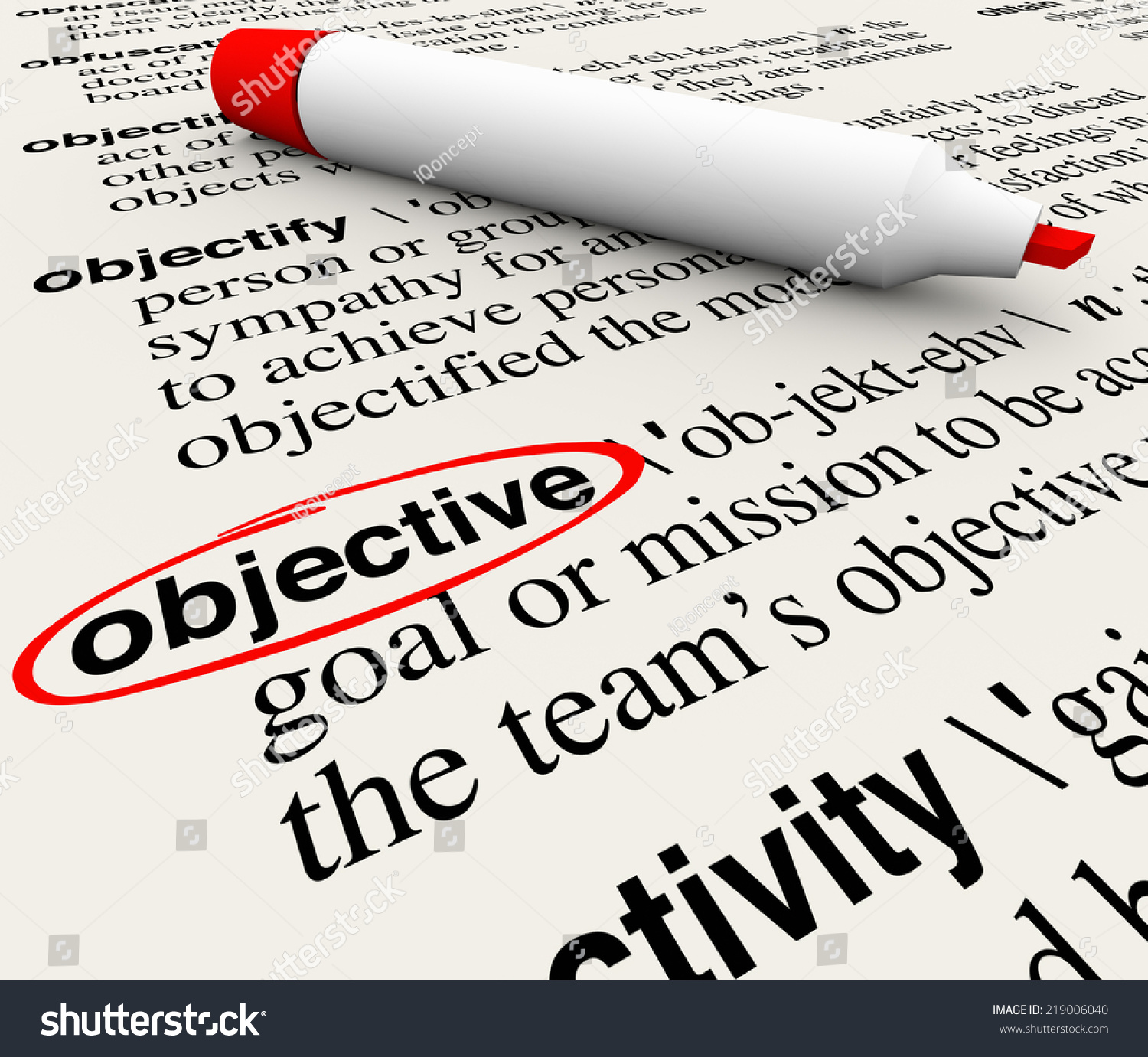 Objective Definition Gallery