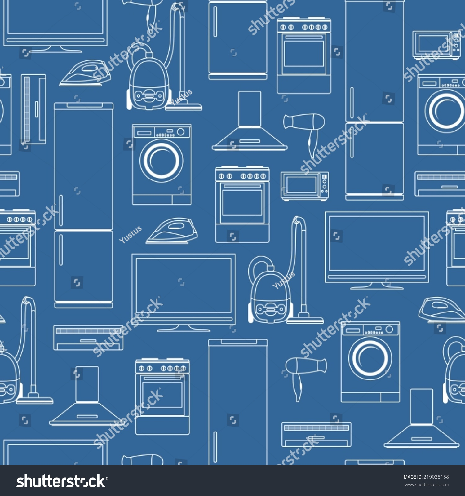 Household appliances seamless background