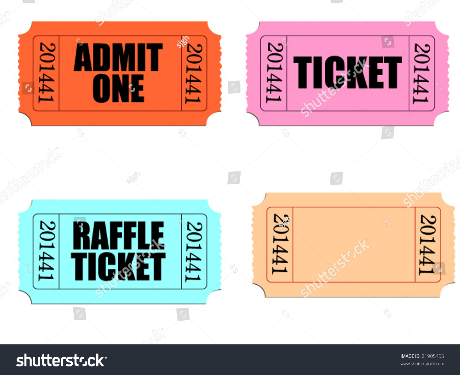 vector several tickets perforated edges customize stock vector vector of several tickets perforated edges customize blank ticket