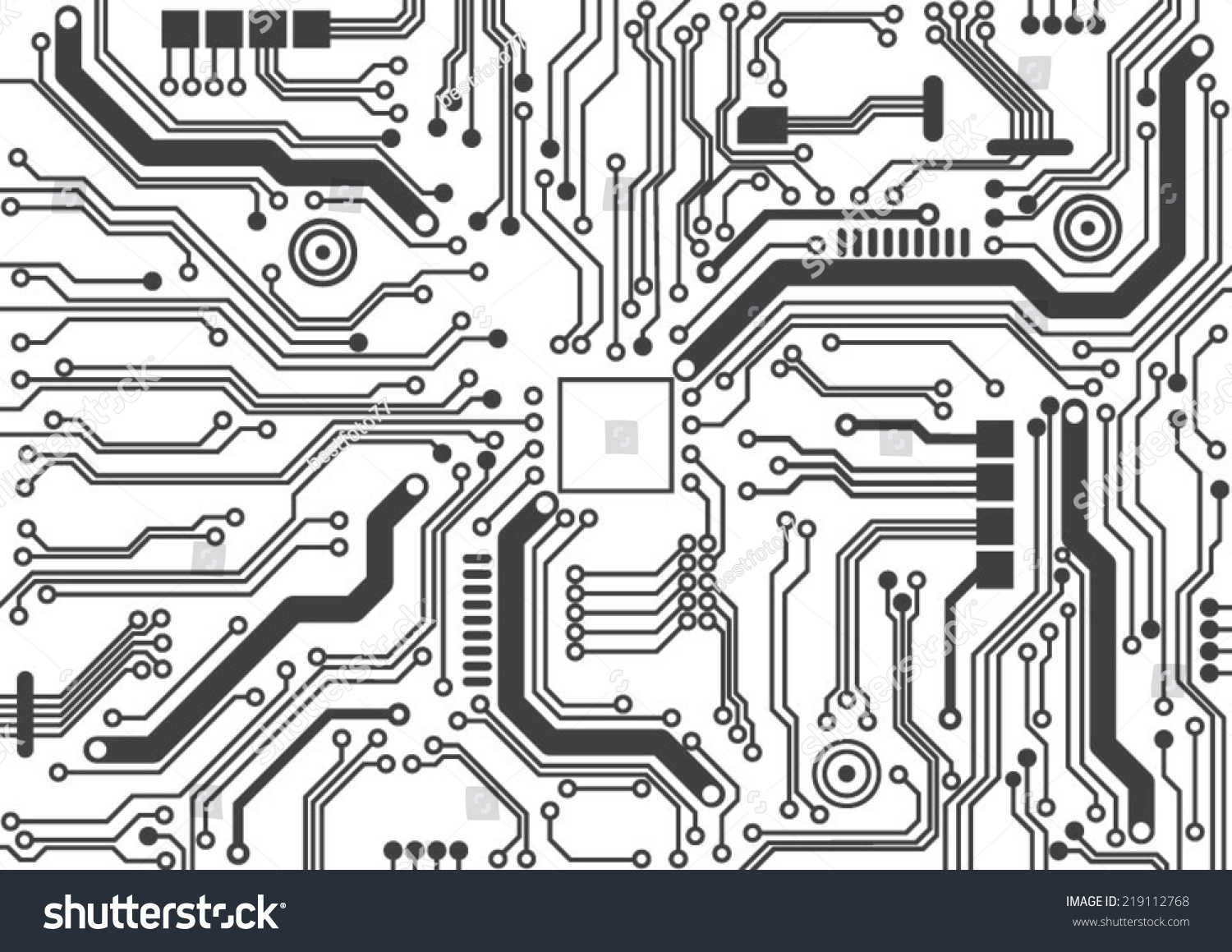 Circuit Board Background Texture Stock Vector Royalty Free