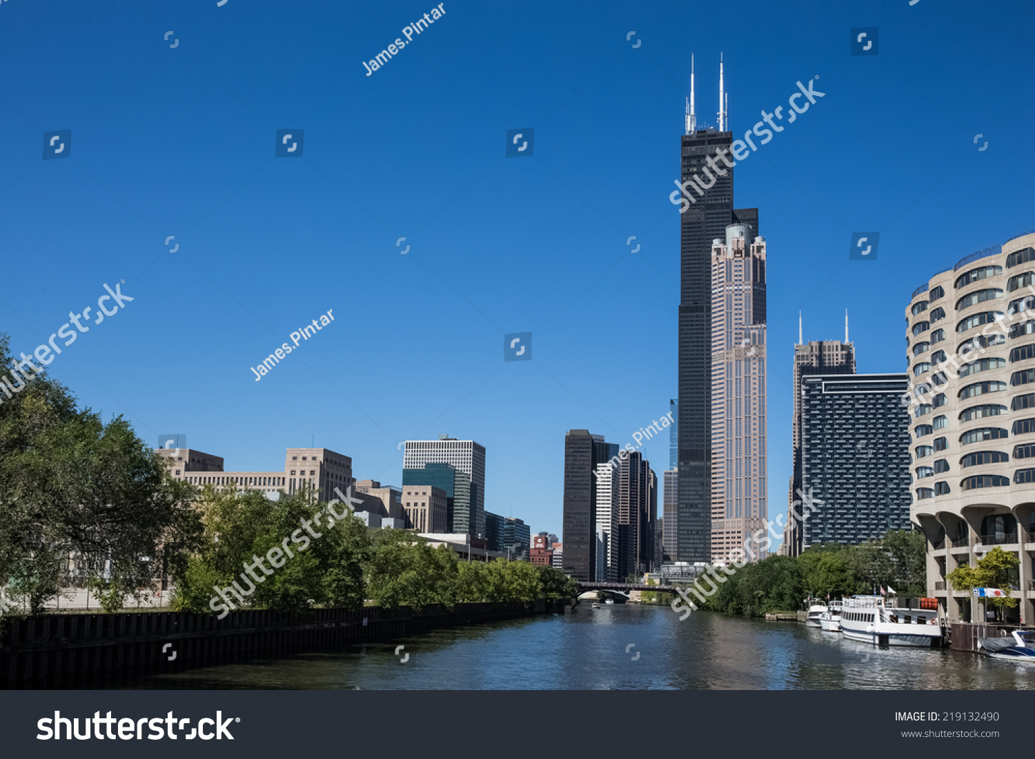 Various Chicago Skyscrapers Including The Willis Tower