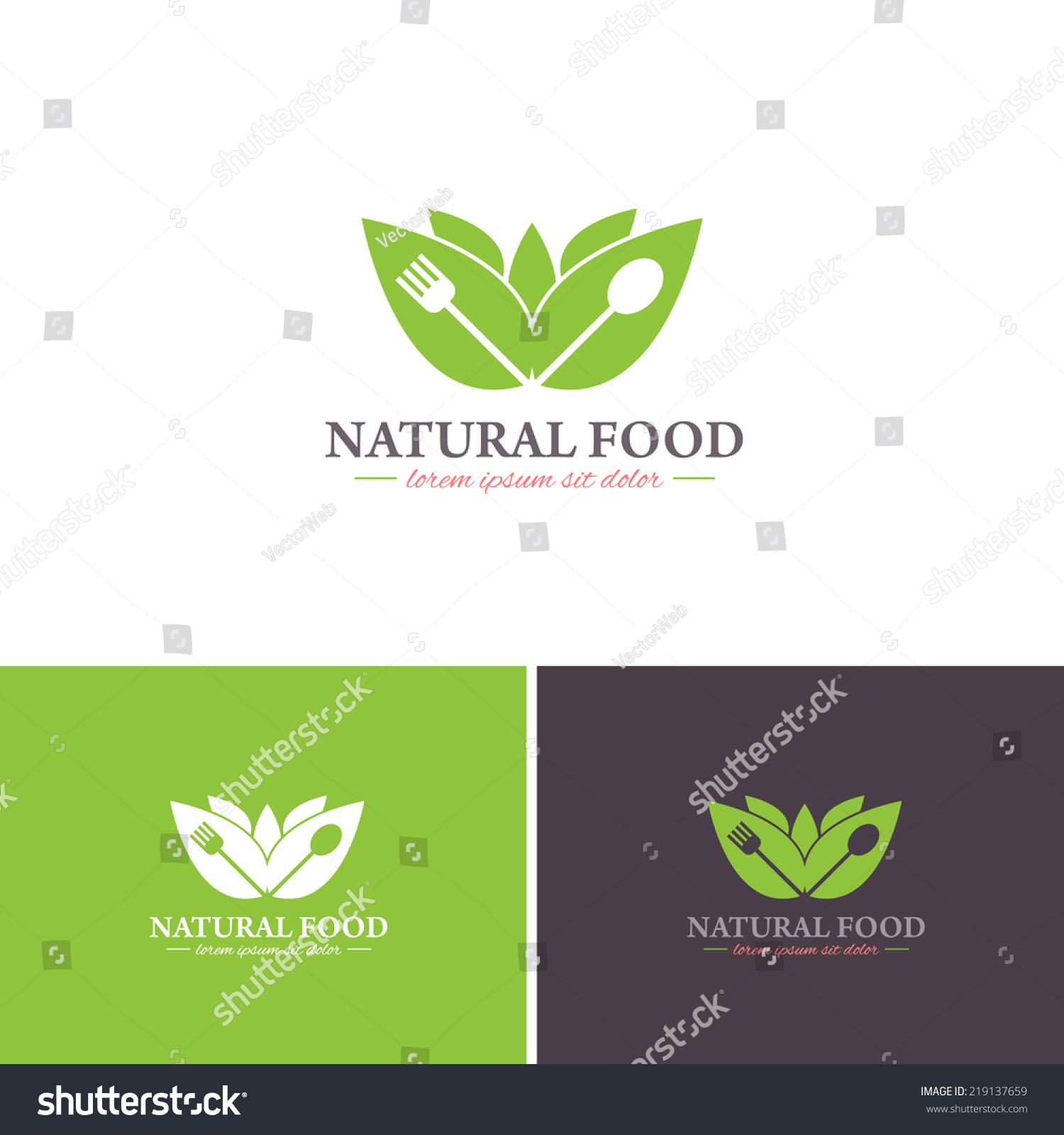 Natural Food Vector Icons Logos Sign Stock Vector ...