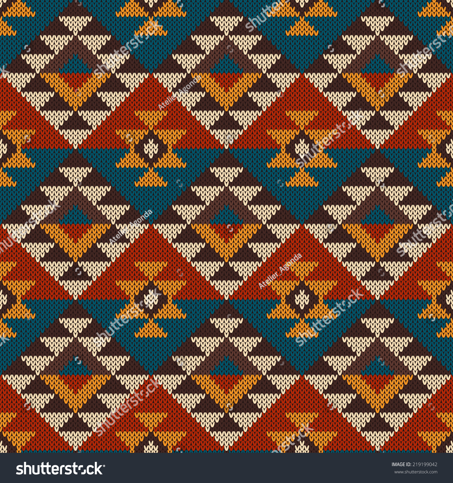 Traditional Tribal Aztec Seamless Pattern On Stock Vector 219199042 ...