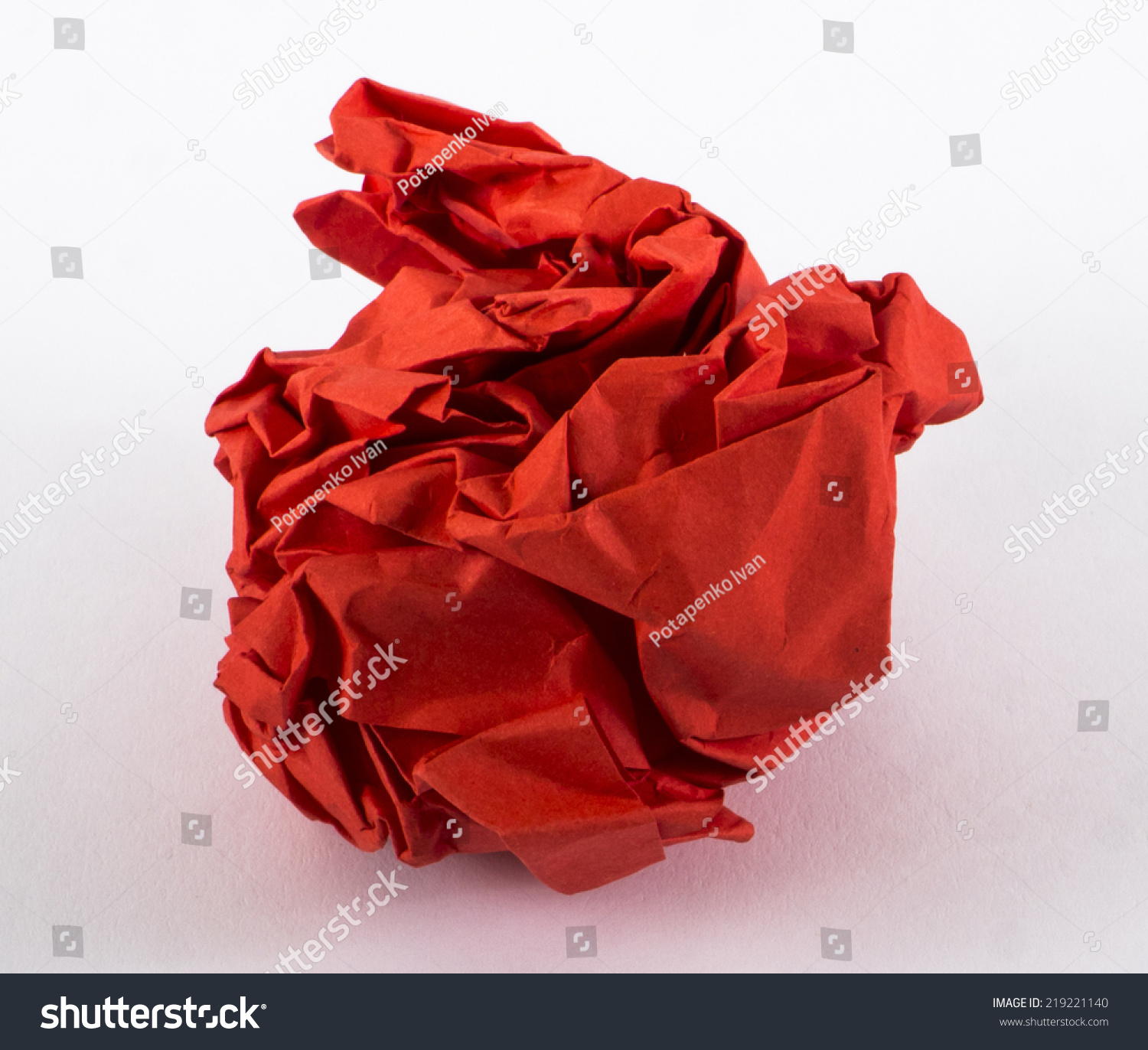 Image Crumped Paper Red Color Texture Stock Photo (Royalty Free ...