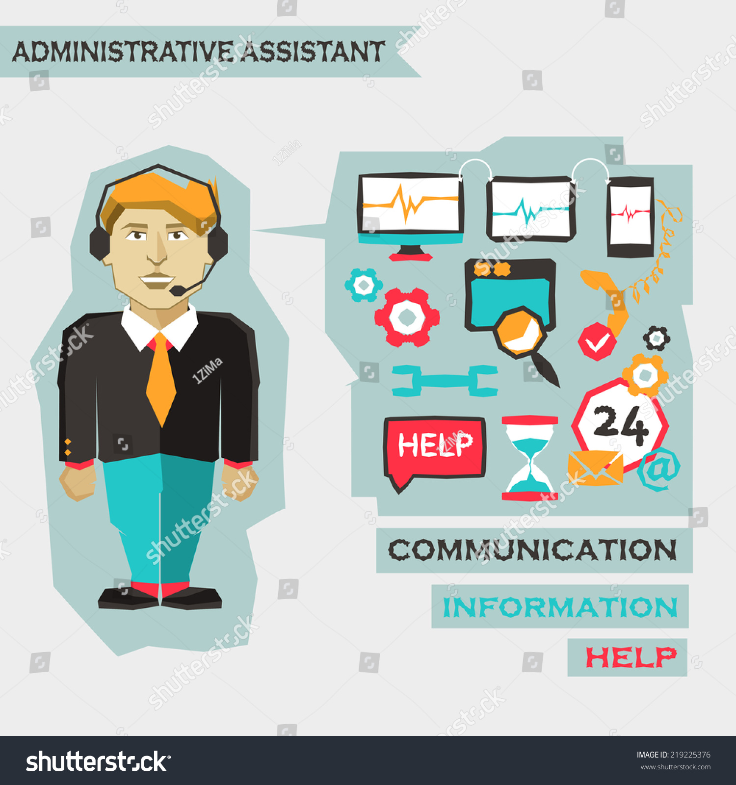 Administrative Assistant. Freelance Infographic.  Administrative Assistant
