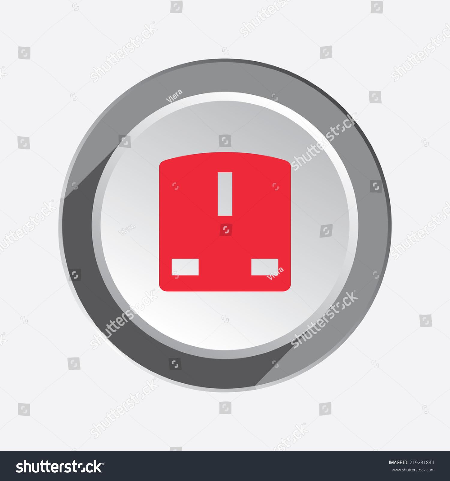 Plug Power Stock Quote: Electric Plug, Socket Base Icon. British Standard. Power