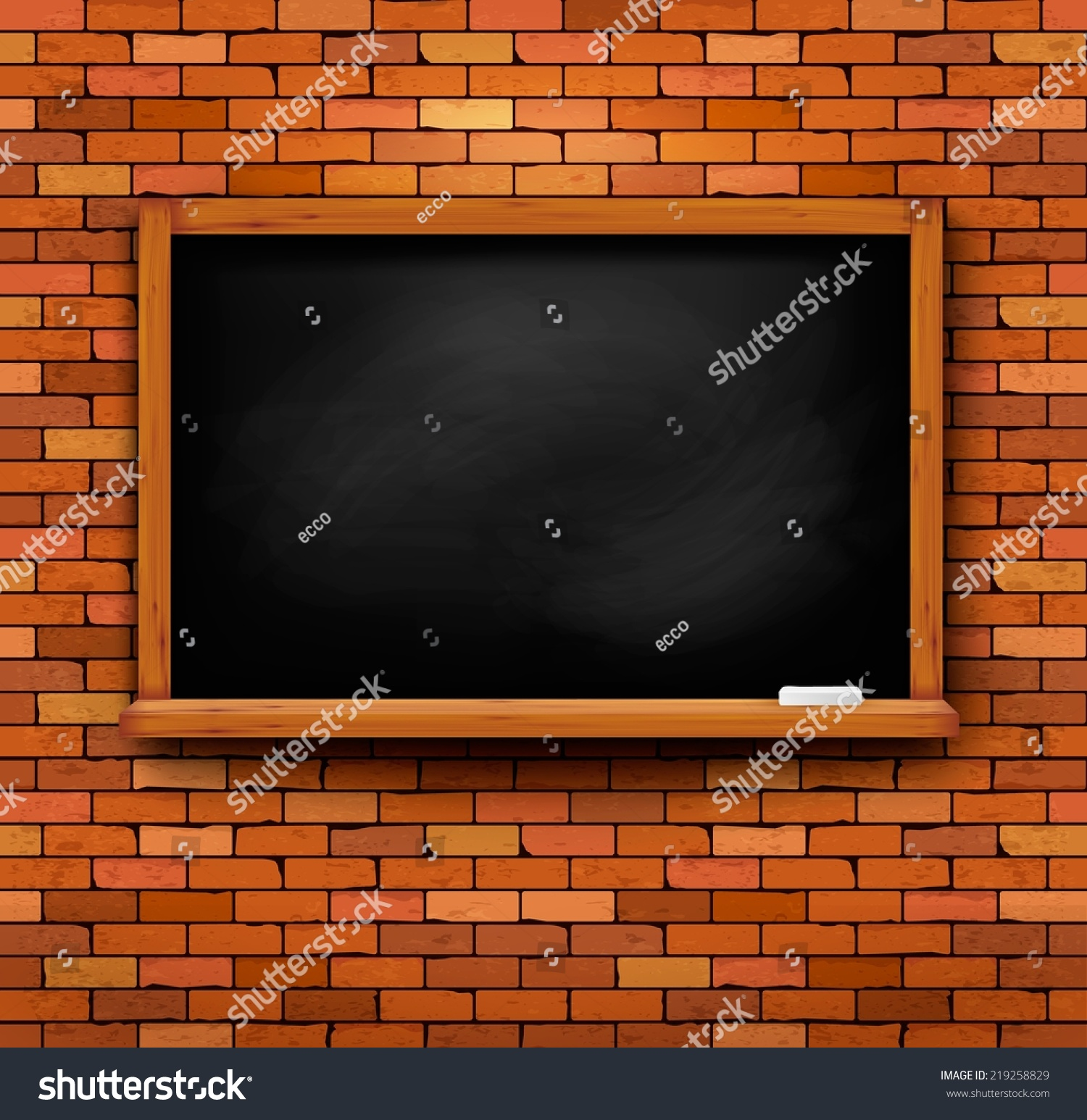Brick Vector Picture Brick Veneers: Brick Wall With A Blackboard. Vector.